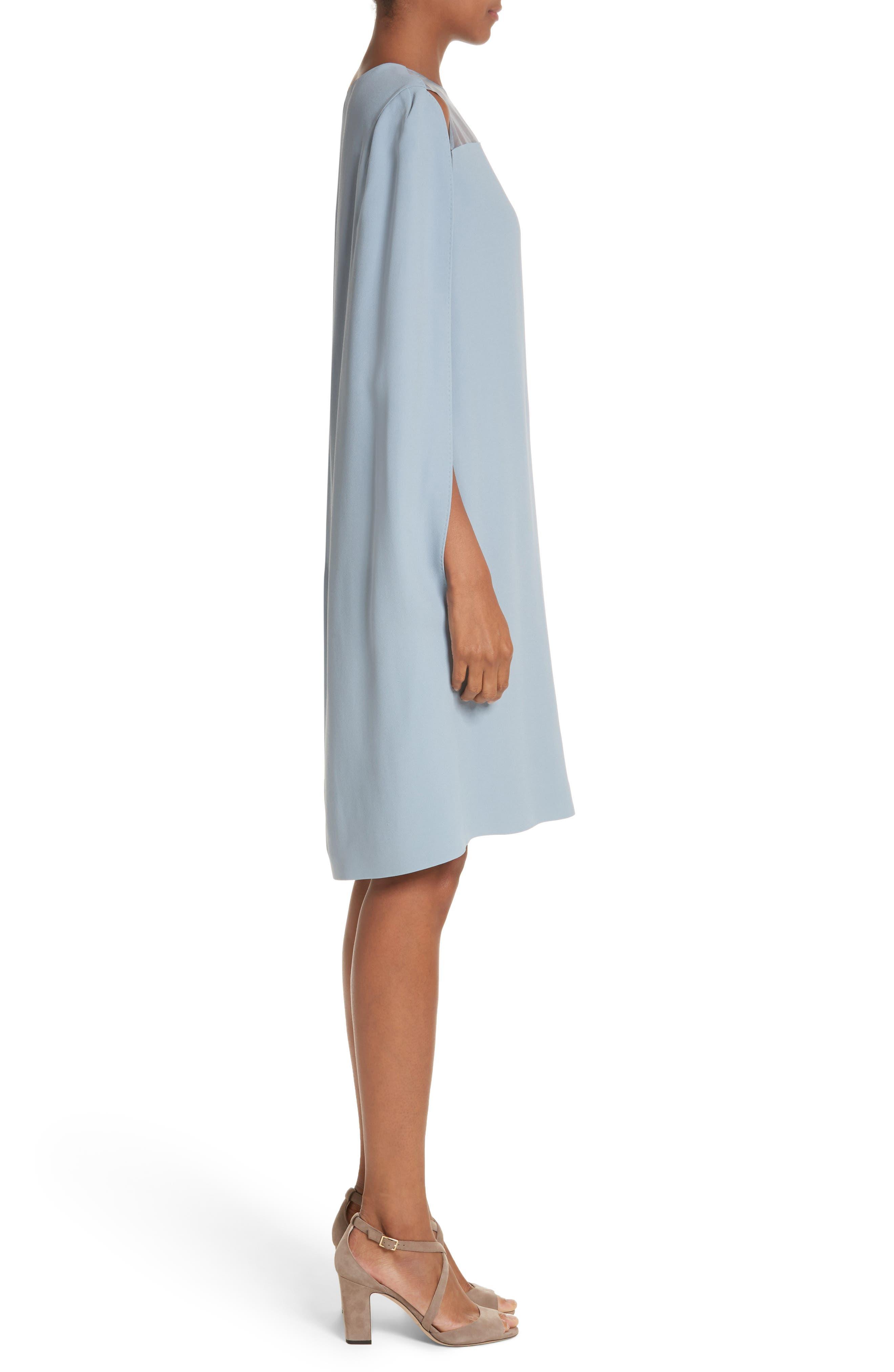 Sospiro Cape Shift Dress,                             Alternate thumbnail 6, color,