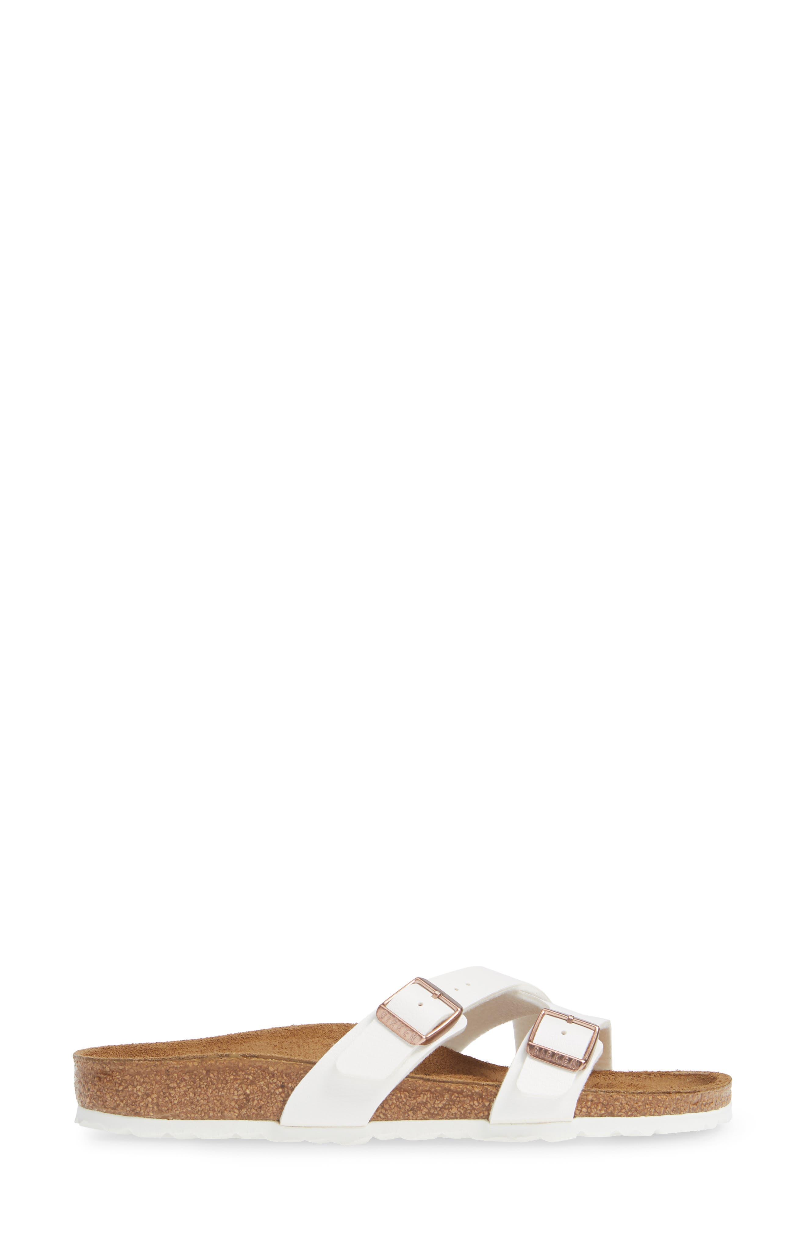 BIRKENSTOCK,                             Yao Slide Sandal,                             Alternate thumbnail 3, color,                             WHITE