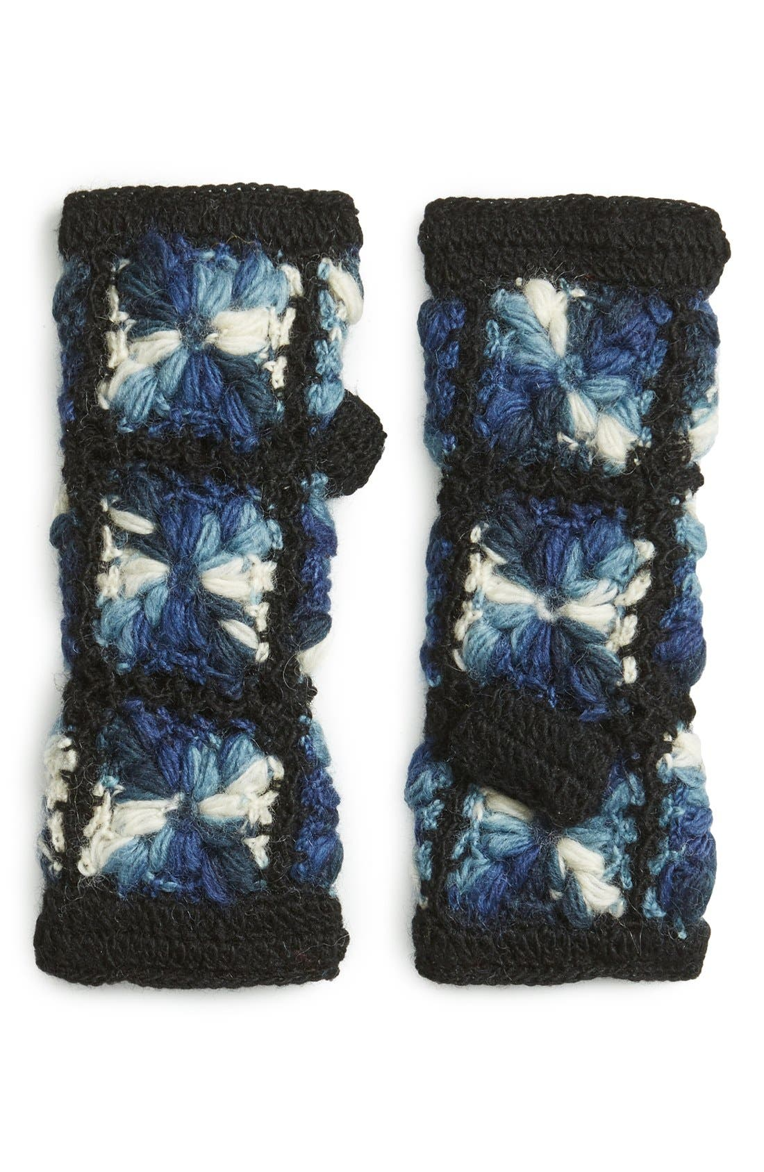 Flower Crochet Hand Warmers,                             Main thumbnail 2, color,