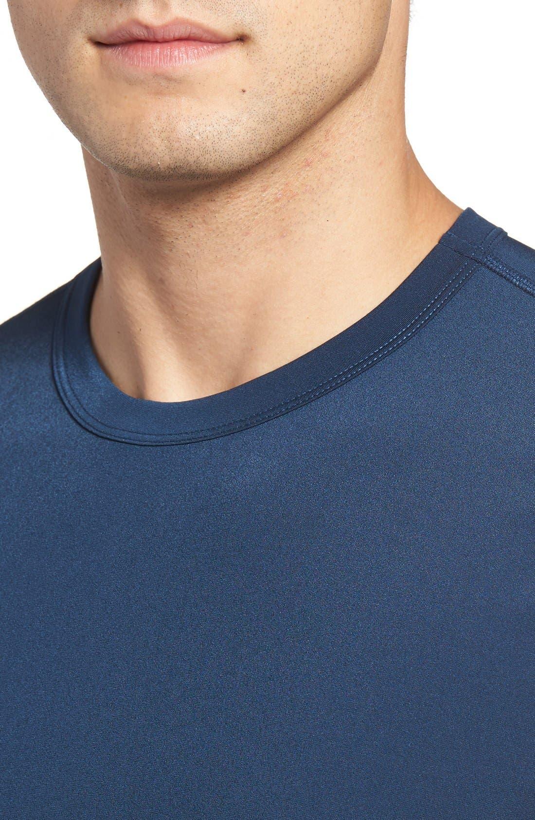 Long Sleeve Stretch Rashguard,                             Alternate thumbnail 8, color,                             DEEP BLUE