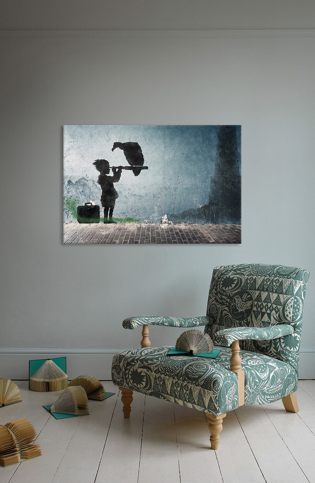 'Boy & His Vulture' Giclée Print Canvas Art,                             Alternate thumbnail 2, color,                             020