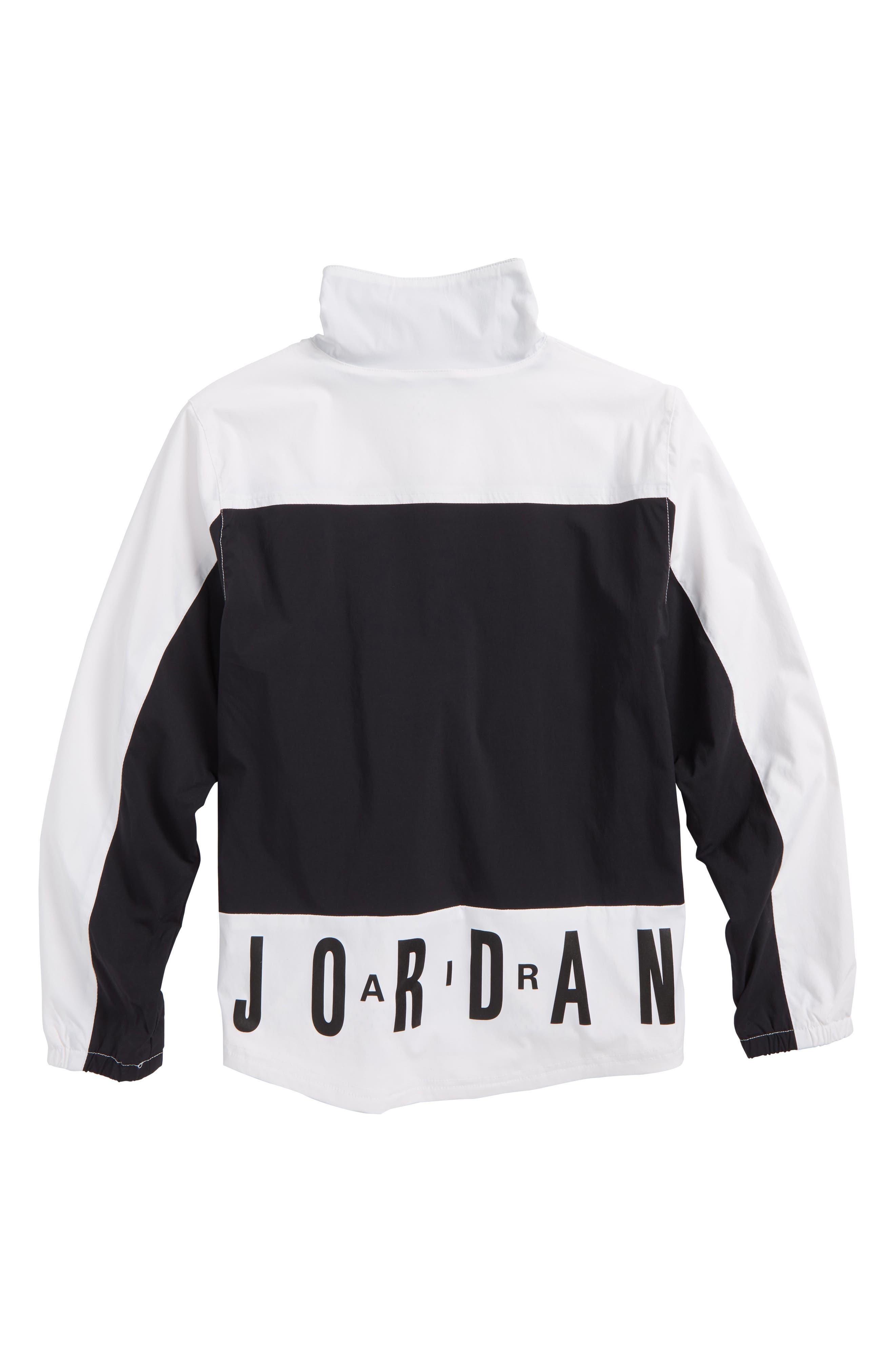 Jordan AJ '90s Popover Quarter Zip Pullover,                             Alternate thumbnail 2, color,                             001