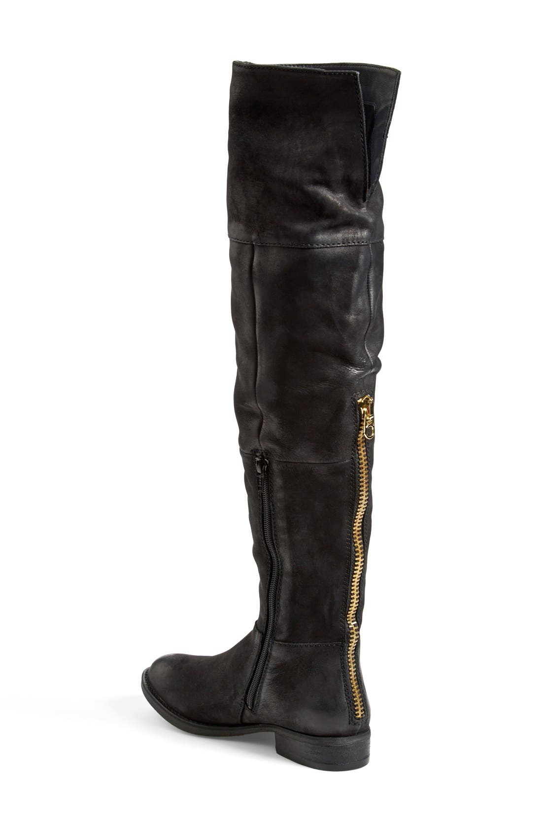 'Heisnbrg' Leather Over the Knee Boot,                             Alternate thumbnail 3, color,                             001