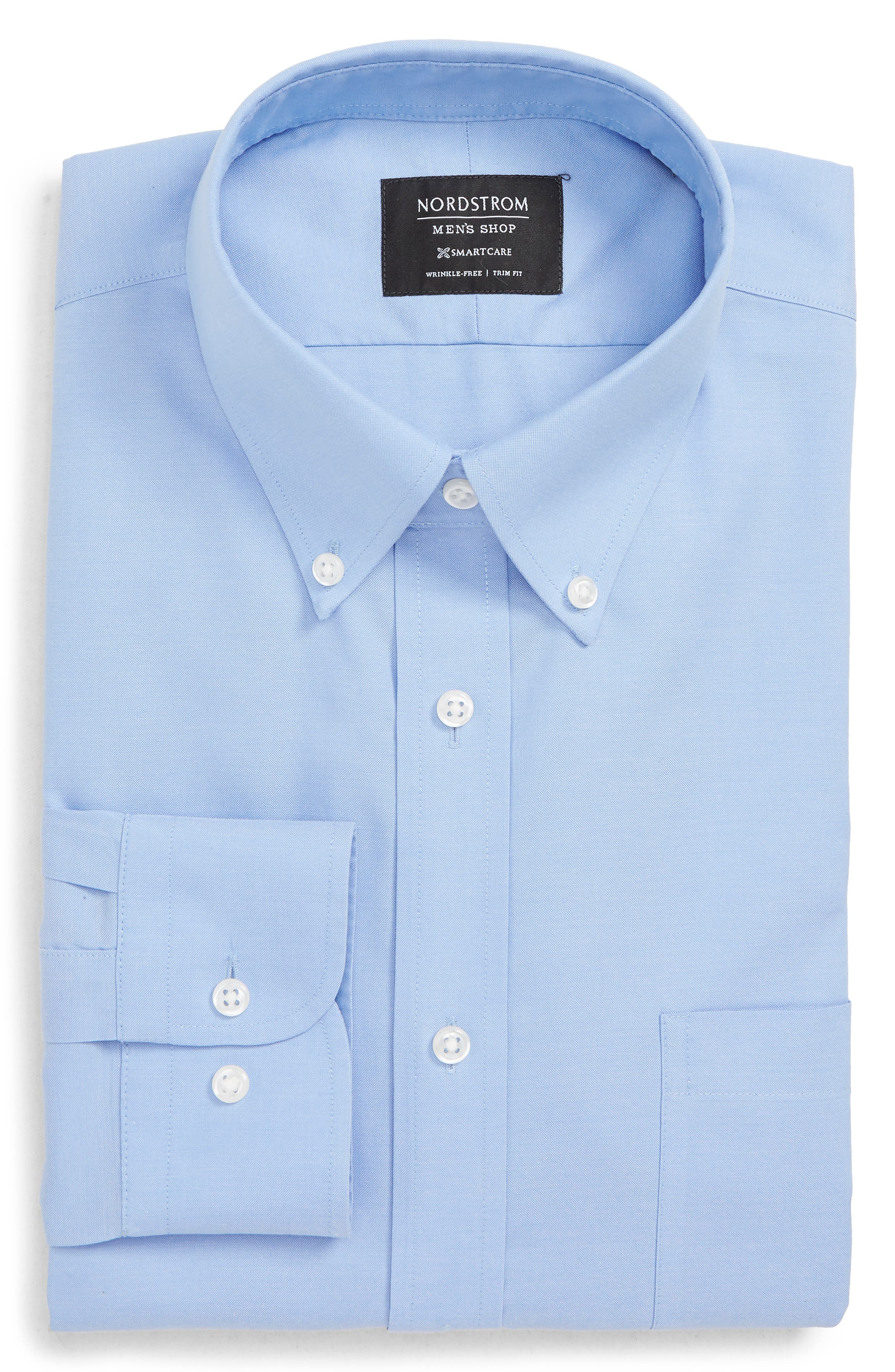 Nordstrom Shop Smartcare(TM) Trim Fit Dress Shirt - Blue
