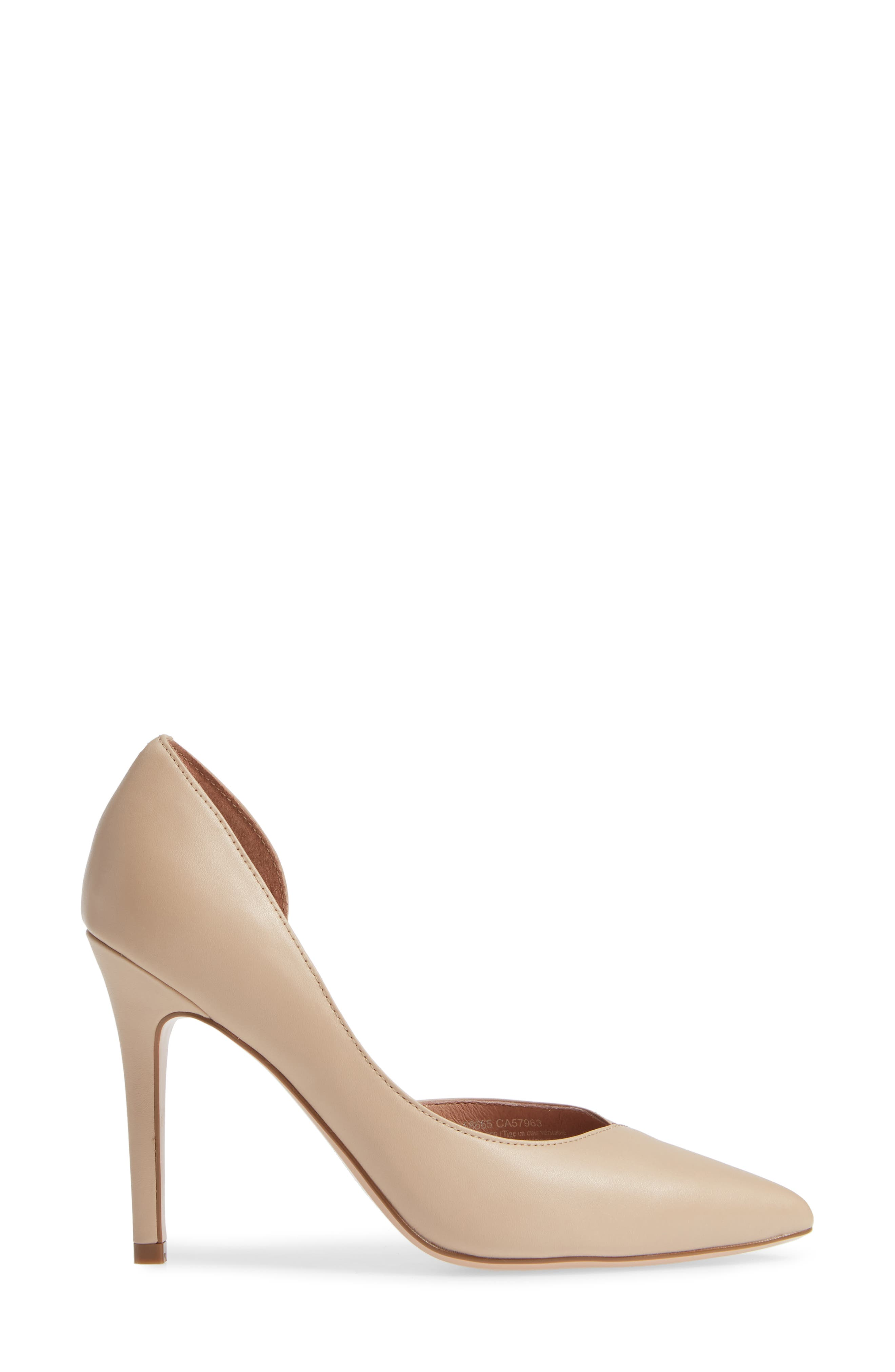 Autumn Pump,                             Alternate thumbnail 3, color,                             NUDE LEATHER