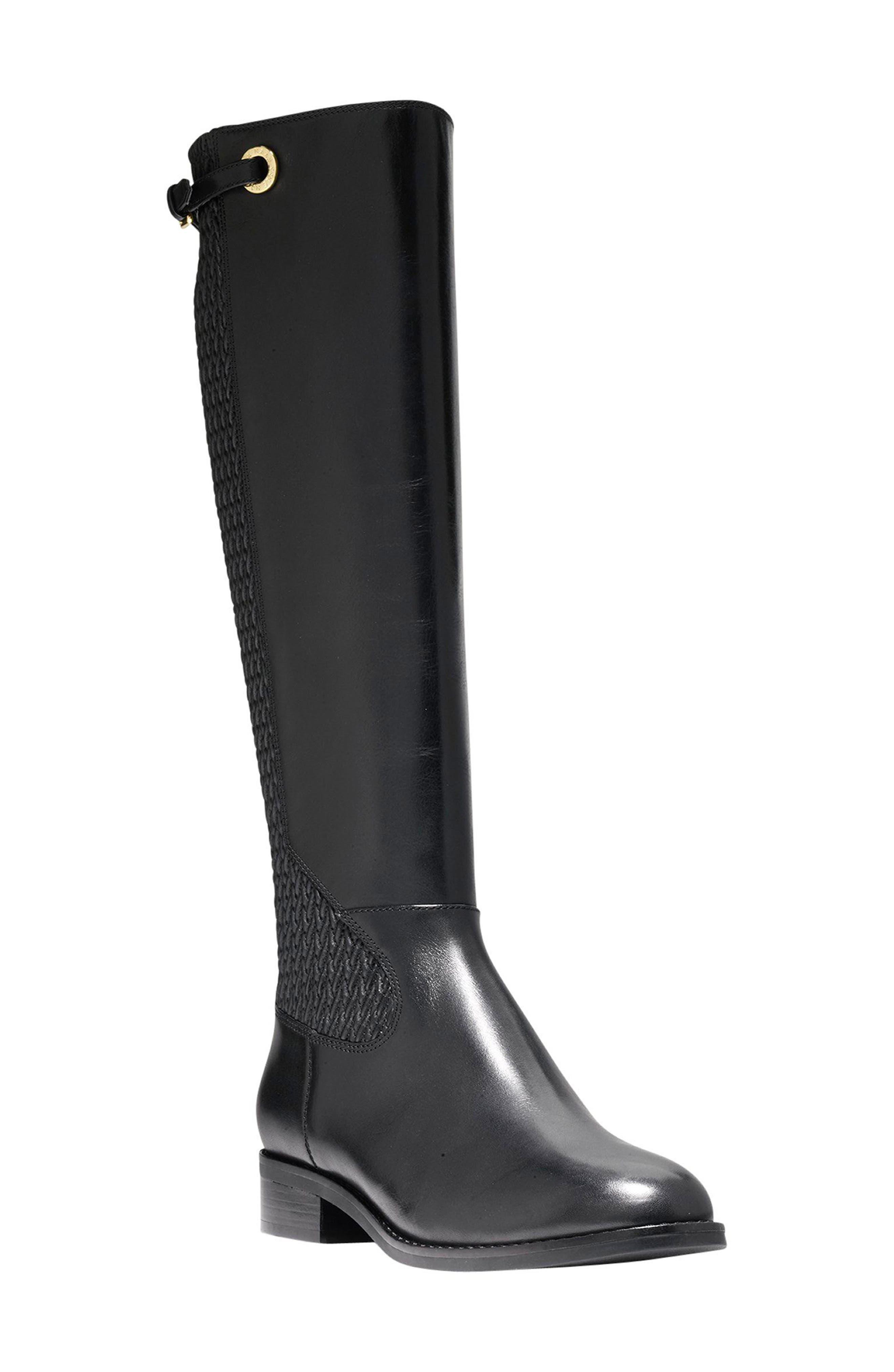 Simona Tall Boot,                         Main,                         color, 001