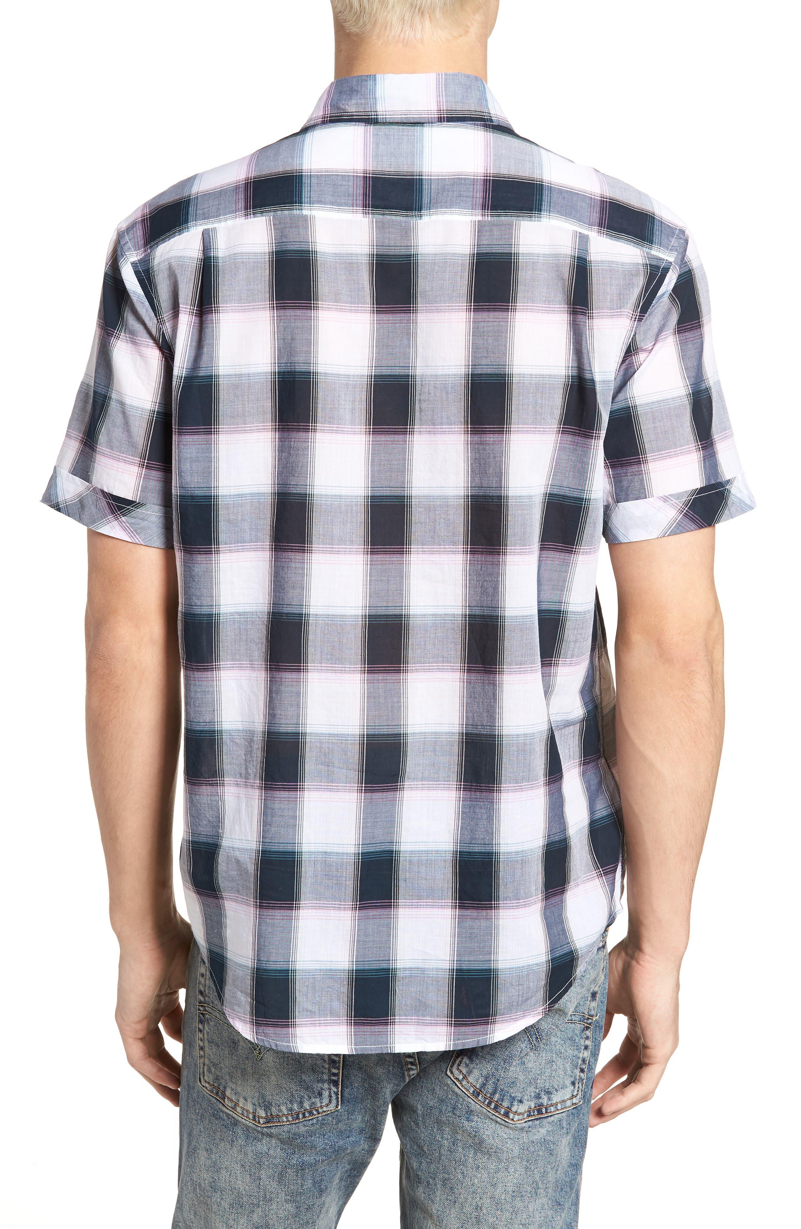 Plaid Cotton Lawn Shirt,                             Alternate thumbnail 2, color,                             023