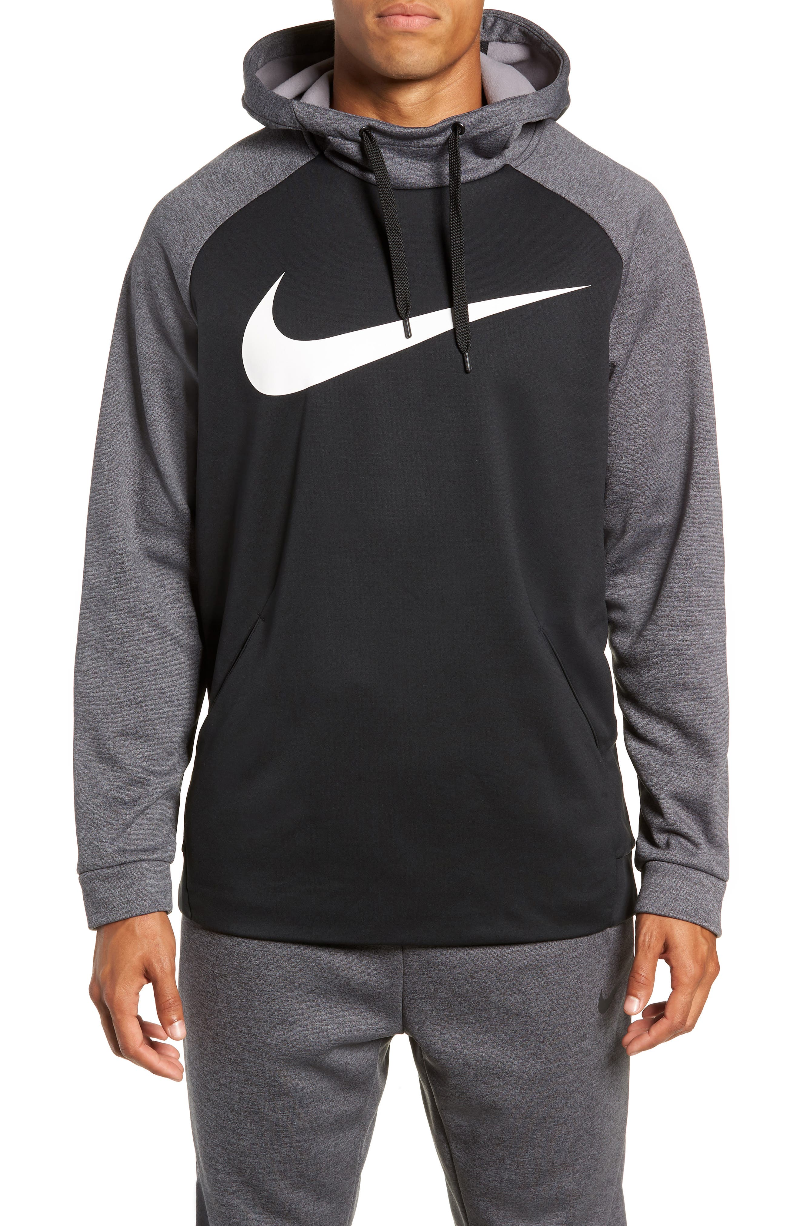 NIKE Therma Swoosh Dry Pullover Hoodie, Main, color, 010