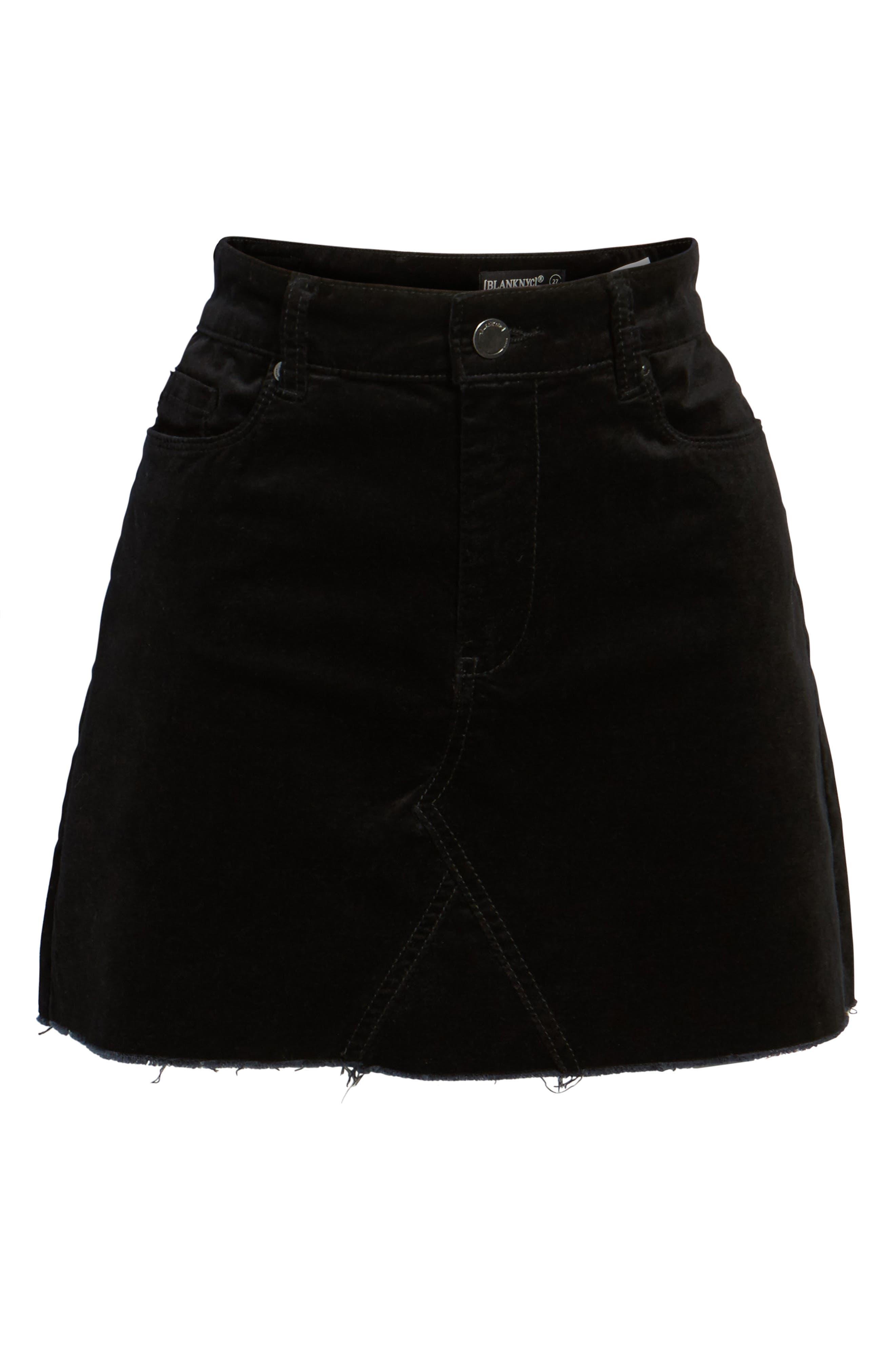 Raw Edge Miniskirt,                             Alternate thumbnail 6, color,                             001