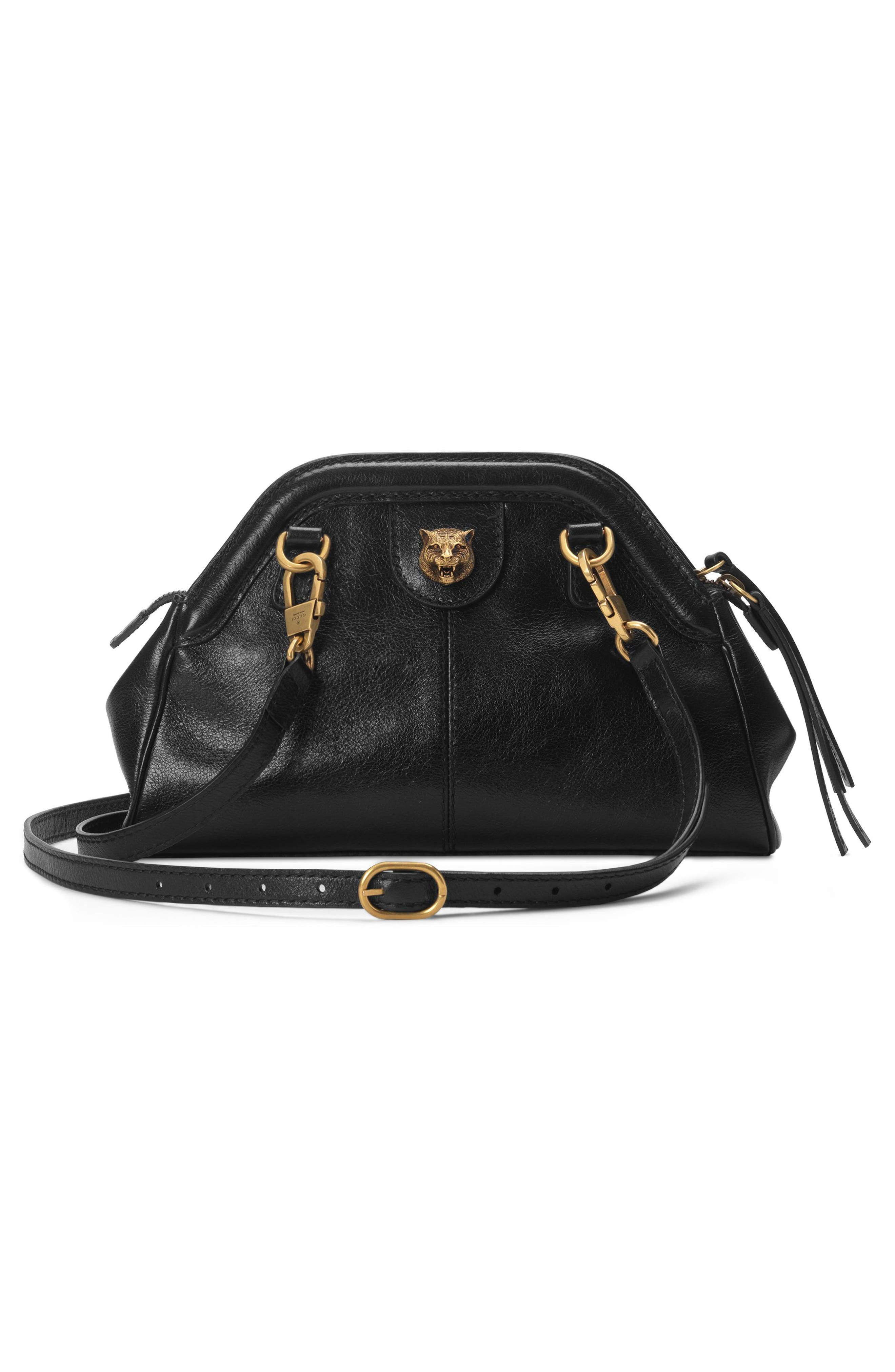 Small RE(BELLE) Leather Crossbody Bag,                             Alternate thumbnail 2, color,                             NERO