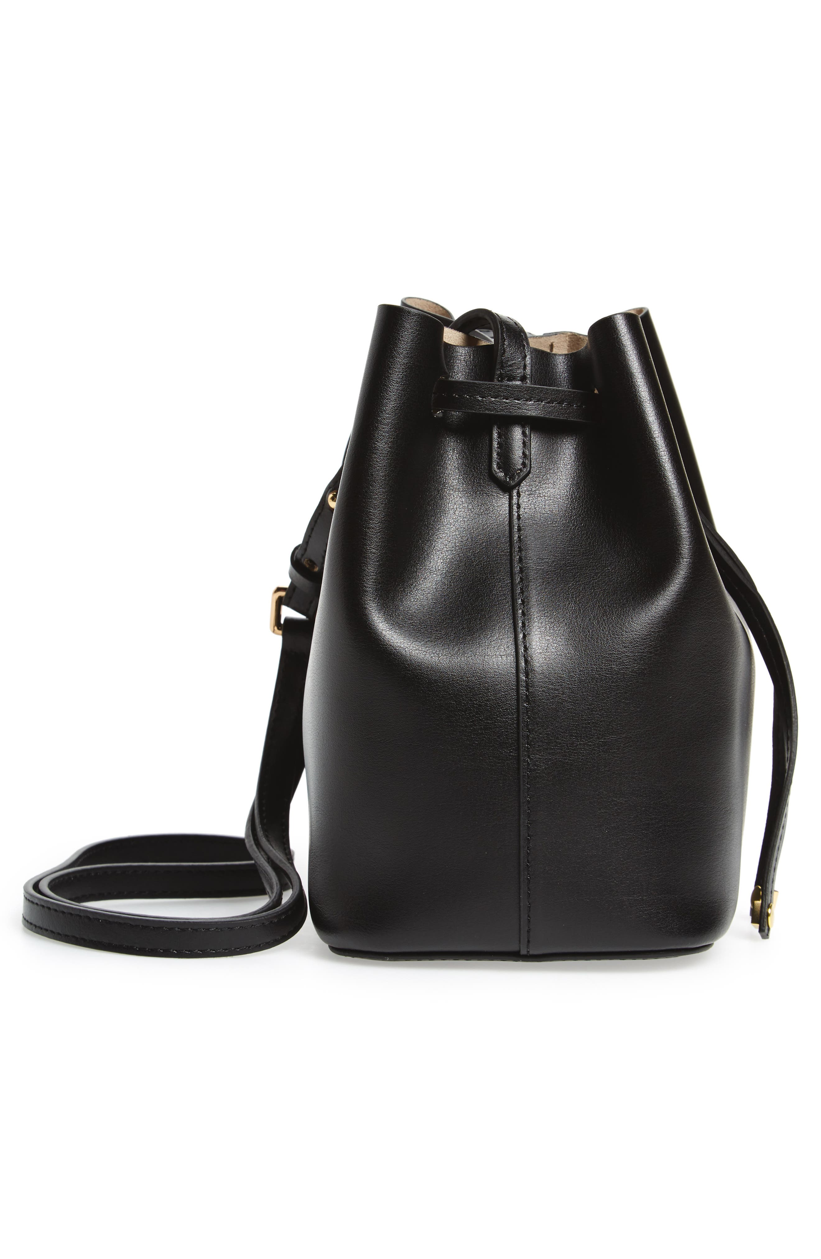 LODIS Small Silicon Valley Blake RFID Leather Bucket Bag,                             Alternate thumbnail 5, color,                             001