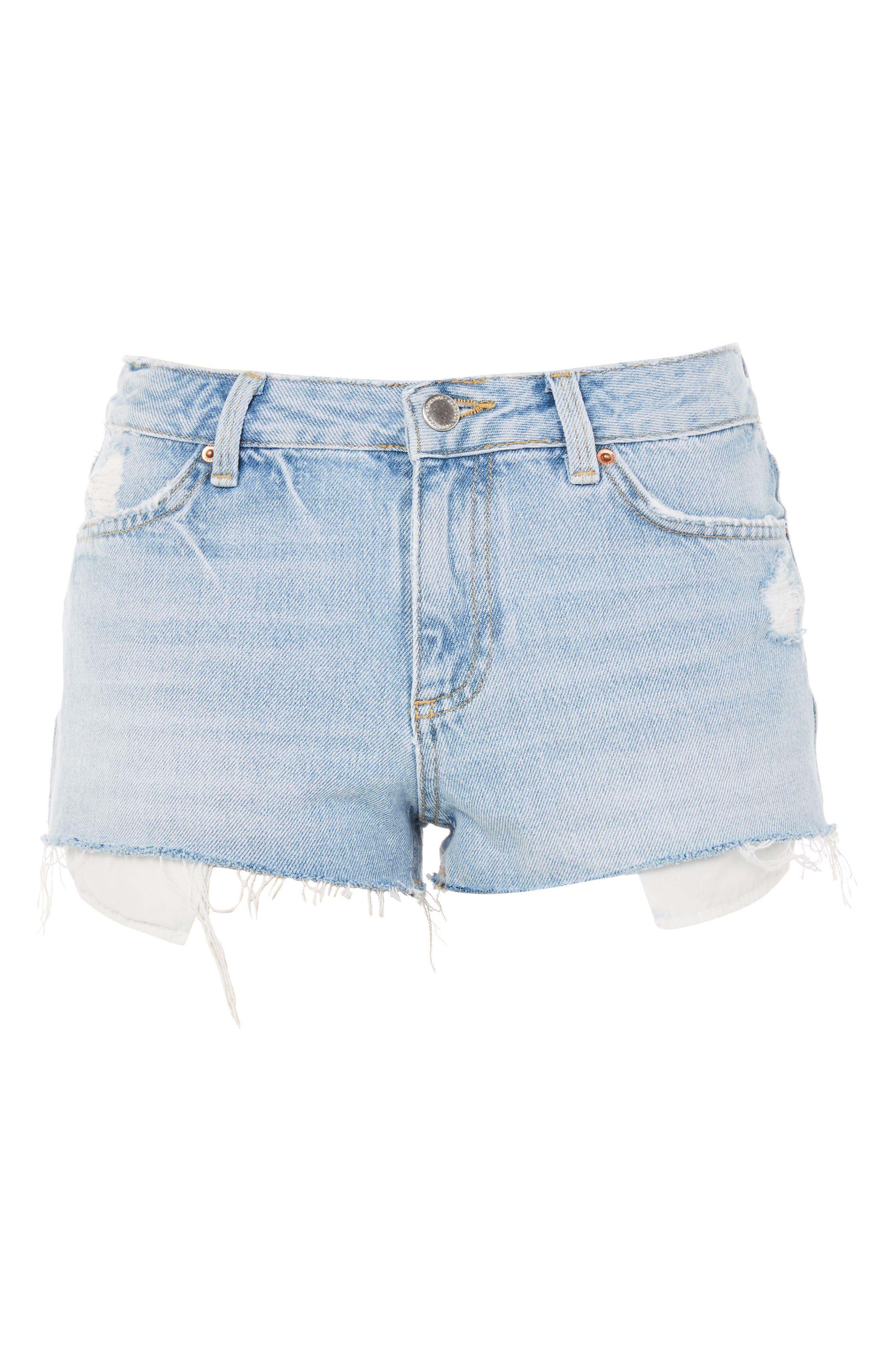 Cory Light Denim Shorts,                             Alternate thumbnail 3, color,