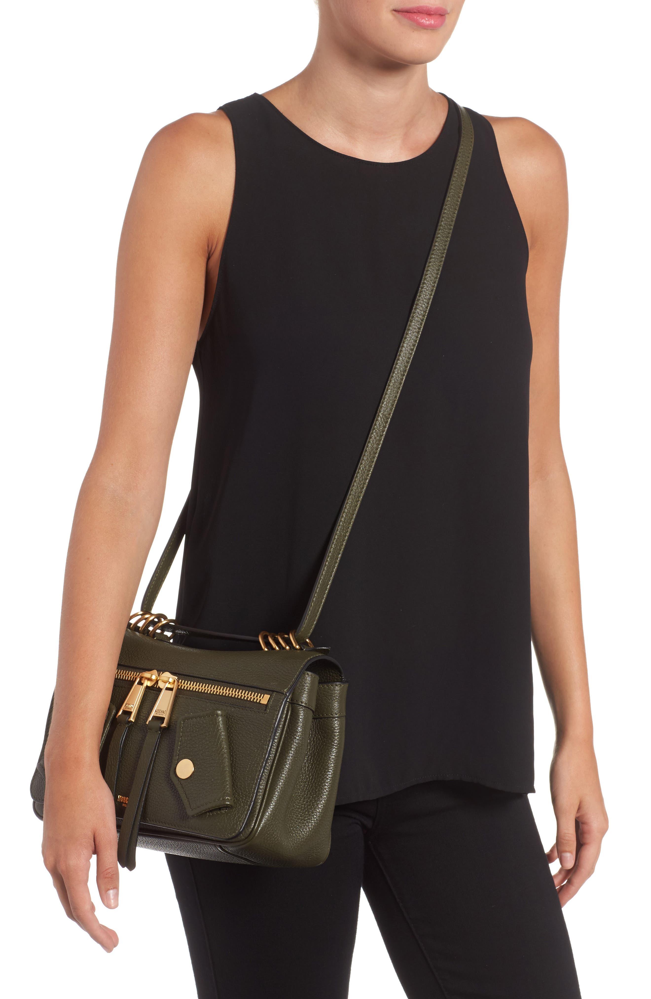 Grainy-B Leather Crossbody Bag,                             Alternate thumbnail 3, color,