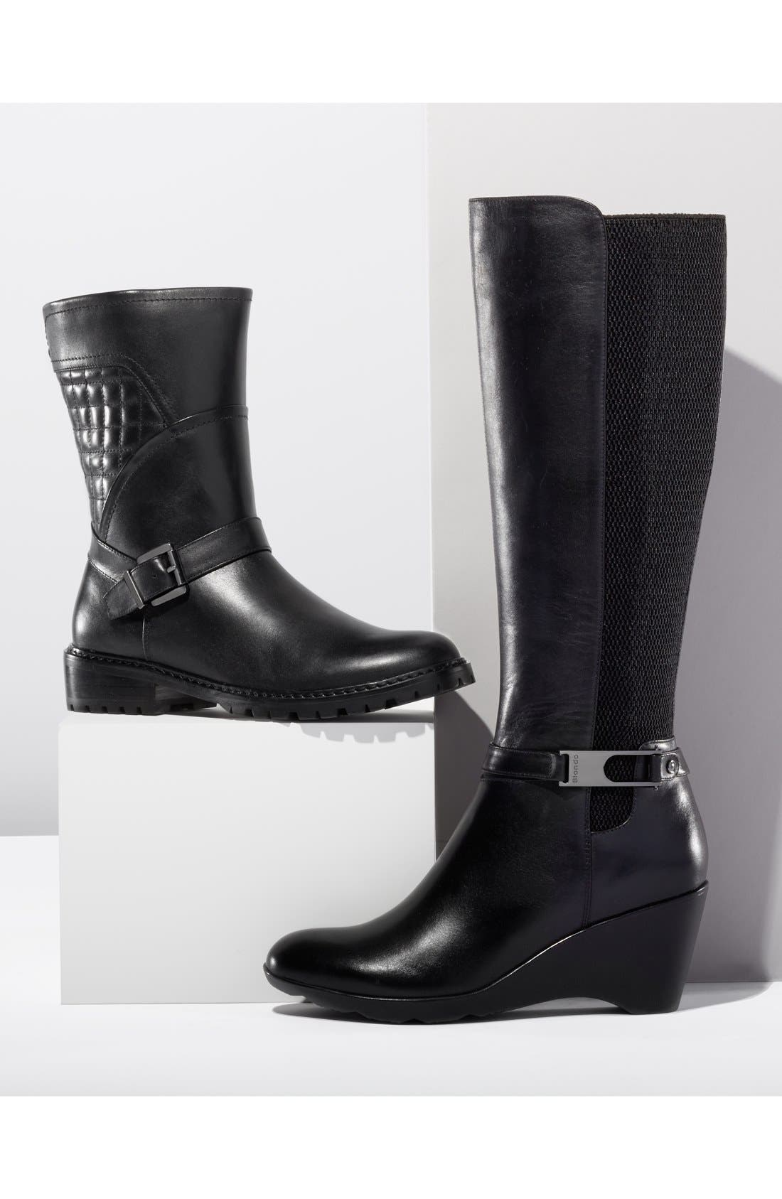 'Laina' Waterproof Boot,                             Alternate thumbnail 5, color,                             001