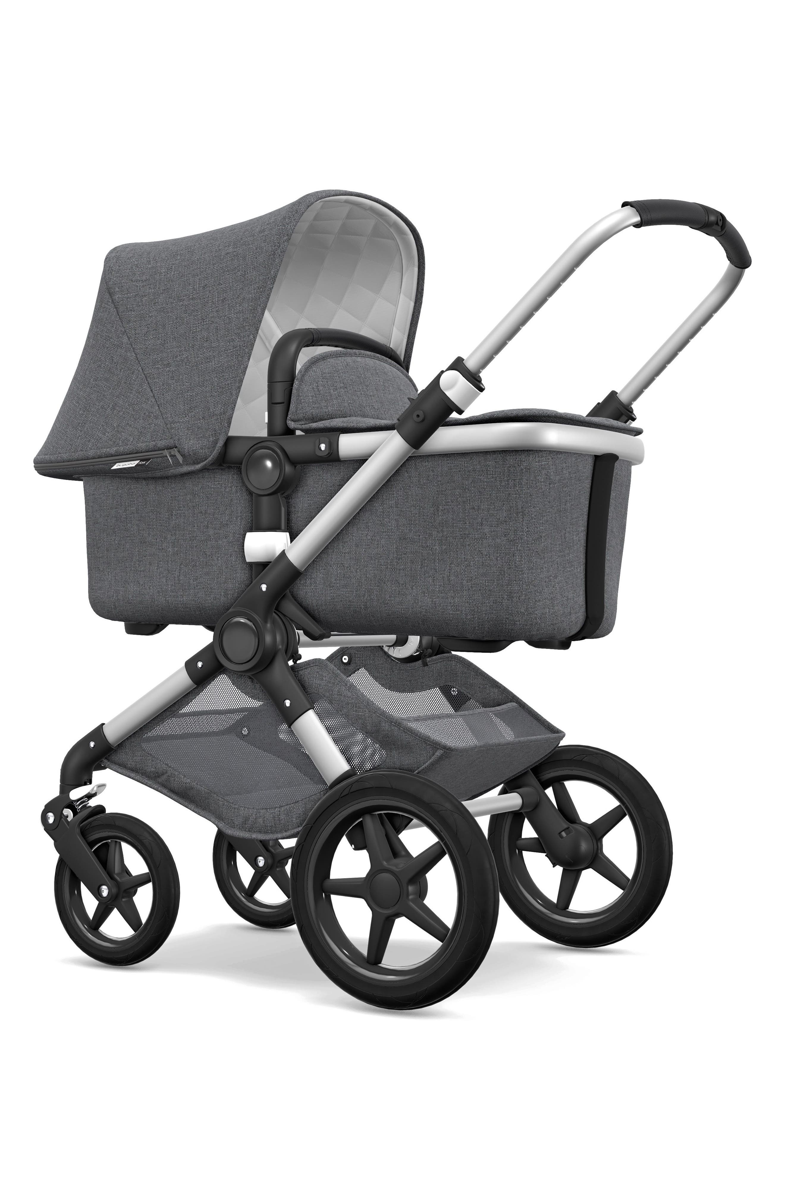 Fox Classic Complete Stroller with Bassinet,                             Alternate thumbnail 2, color,                             GREY MELANGE/ ALUMINUM