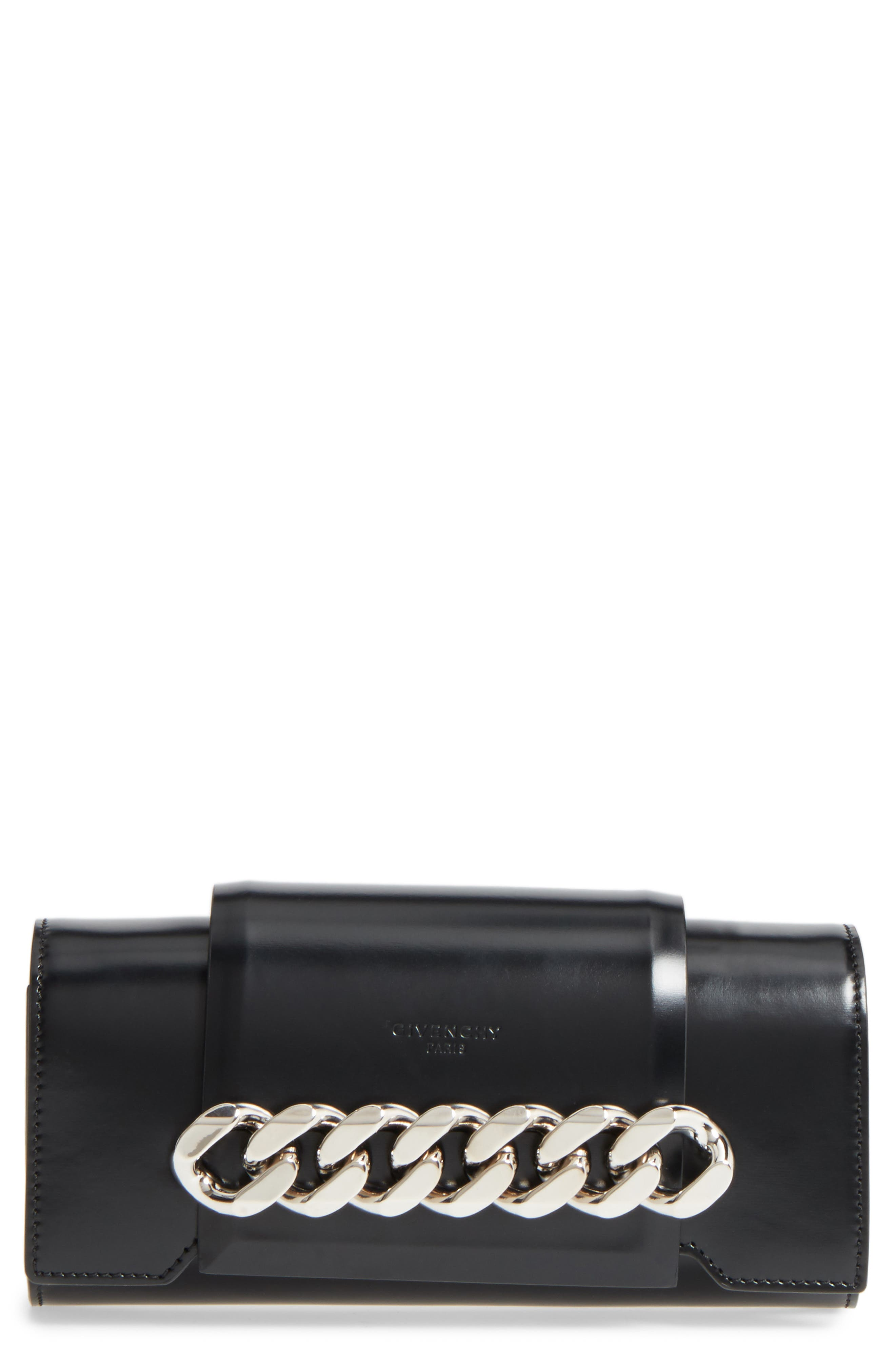 Mini Infinity Calfskin Leather Shoulder/Crossbody Bag,                             Main thumbnail 1, color,                             001