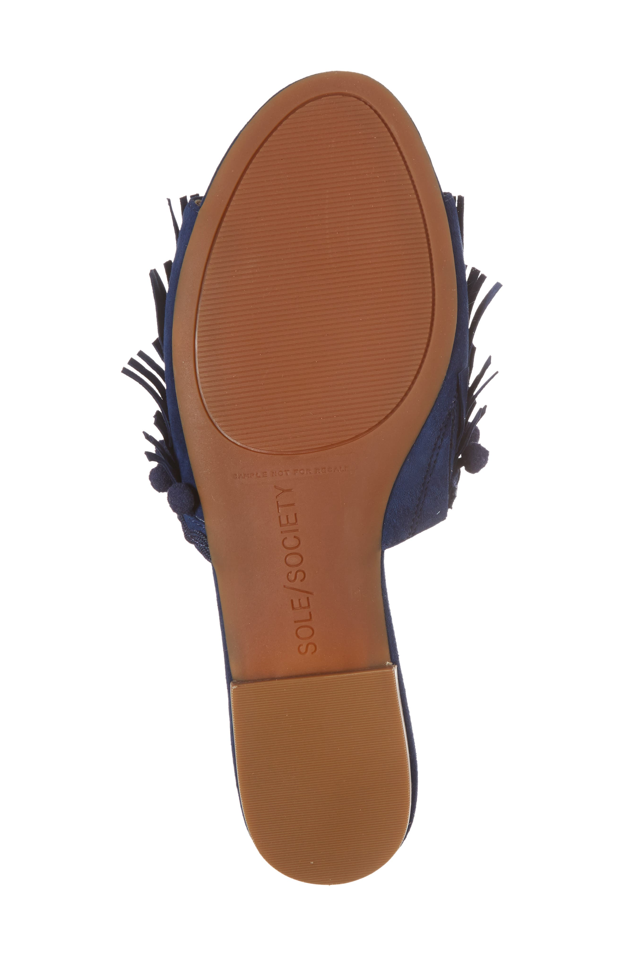 Malina Mule,                             Alternate thumbnail 6, color,                             NAVY SUEDE