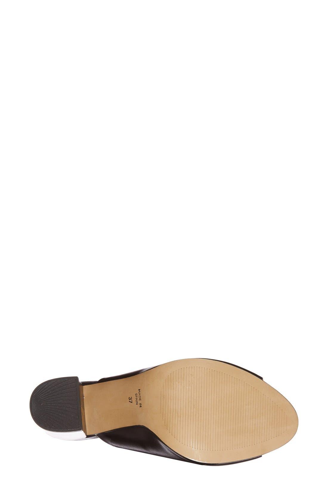 'Glacial' Mule Sandal,                             Alternate thumbnail 3, color,                             001