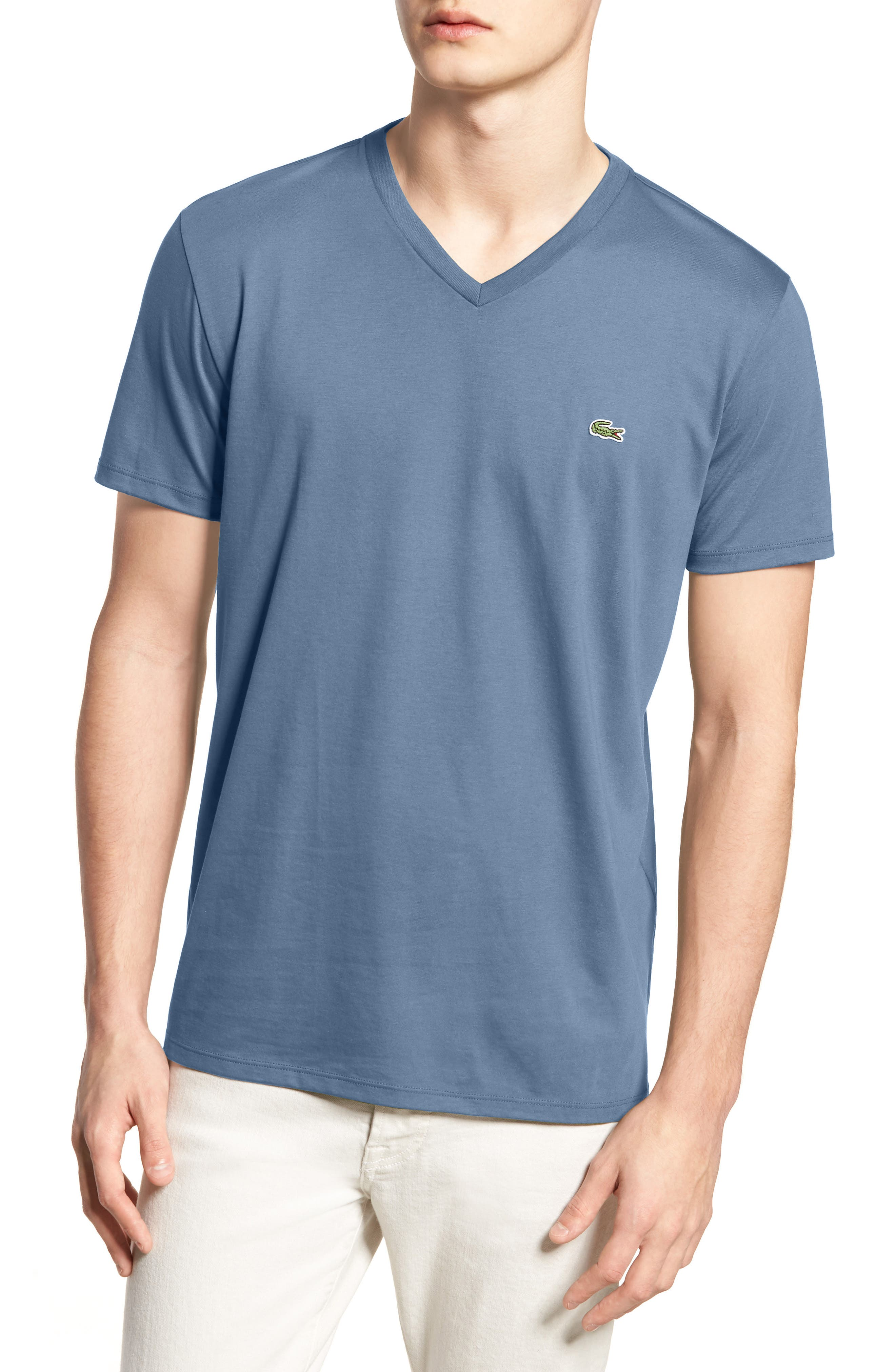 V-Neck Cotton T-Shirt,                             Main thumbnail 5, color,