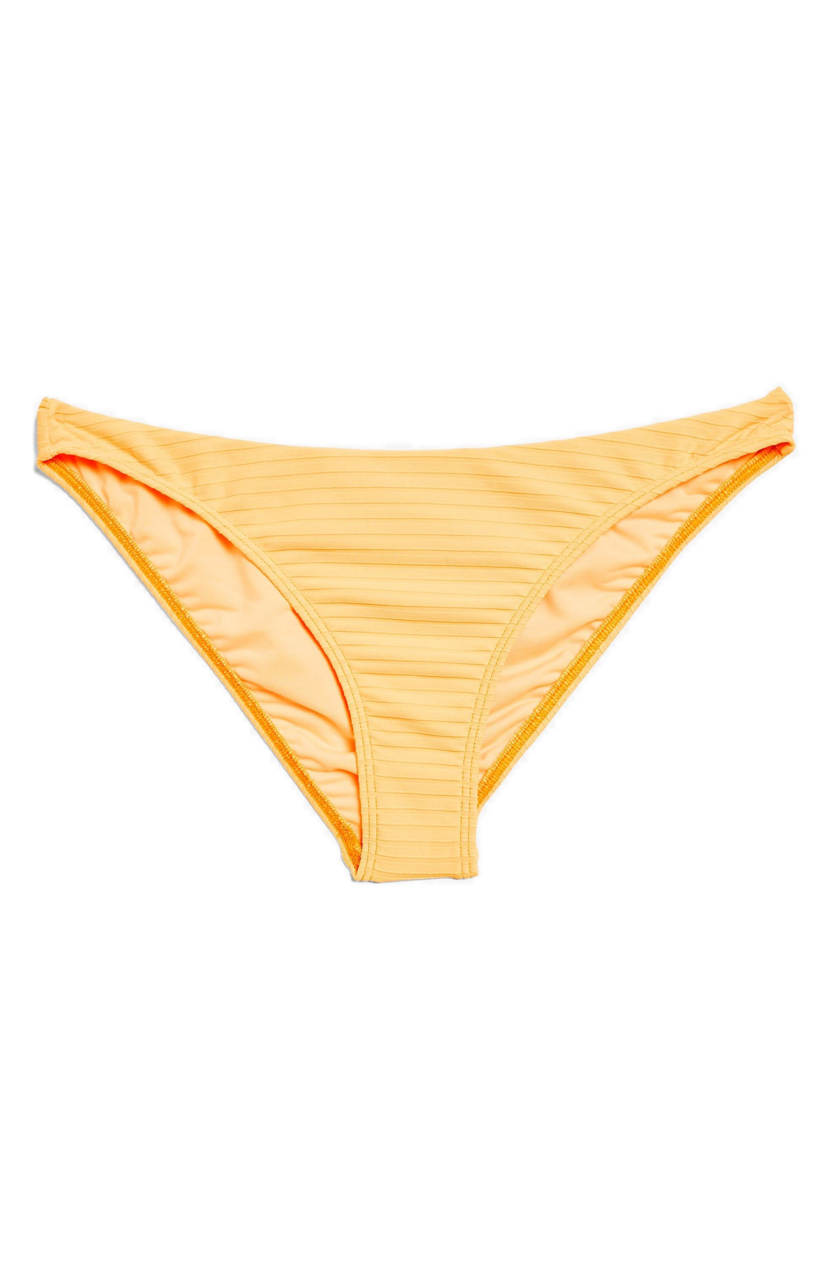 Wide Ribbed High Leg Bikini Bottoms,                             Alternate thumbnail 8, color,