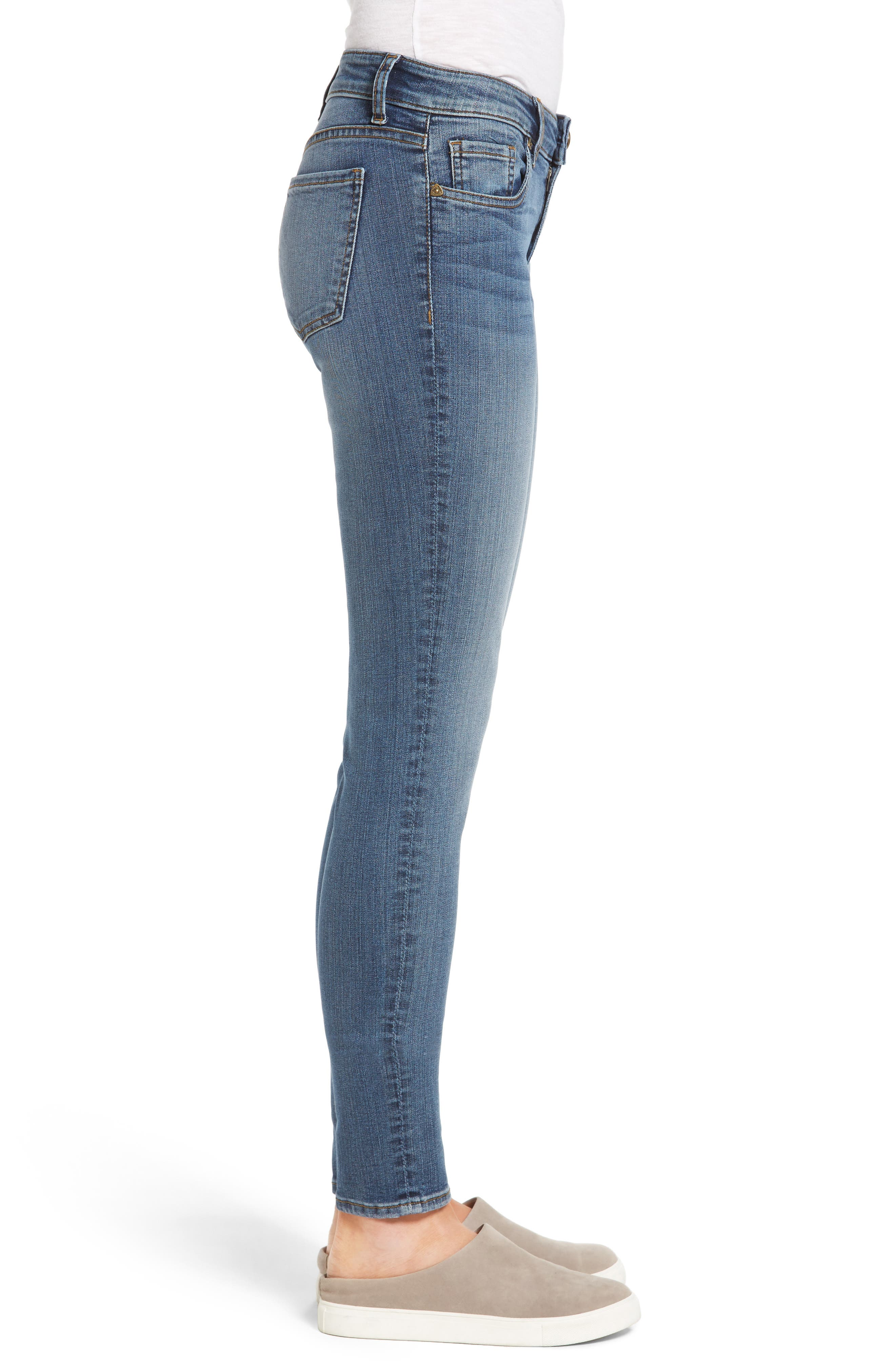 Donna Skinny Jeans,                             Alternate thumbnail 3, color,                             406