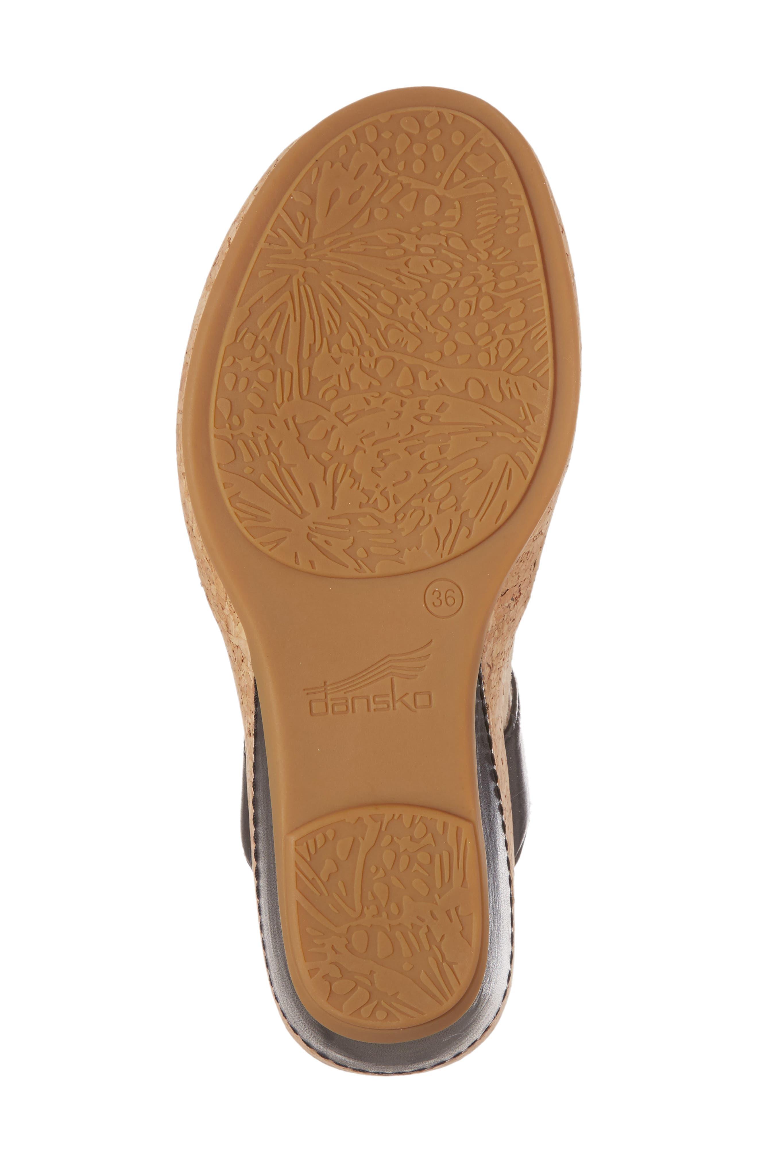 Wedge Sandal,                             Alternate thumbnail 6, color,                             001