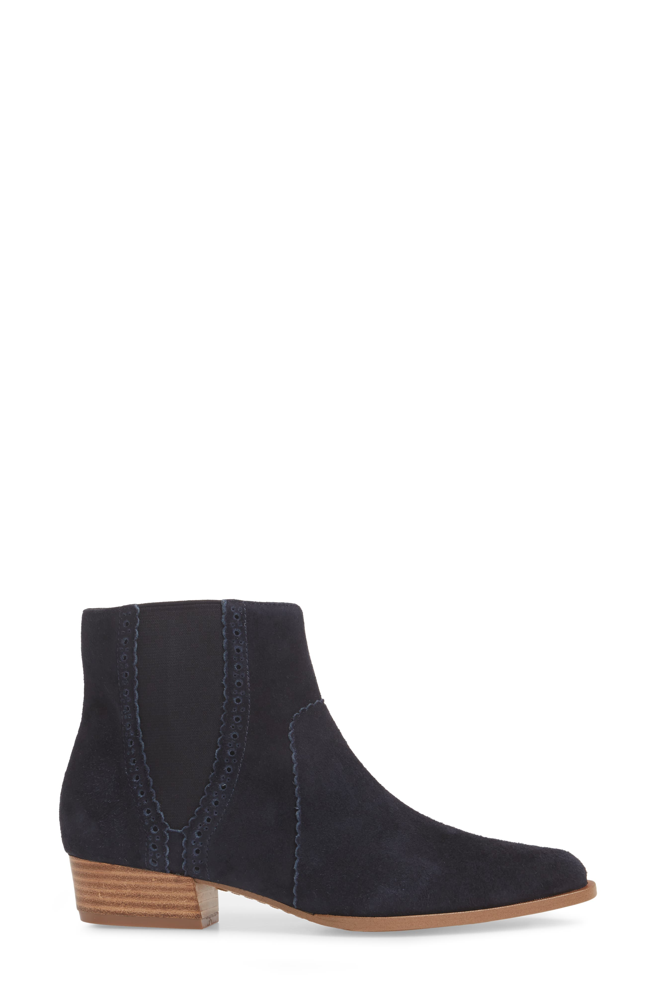 Mica Chelsea Bootie,                             Alternate thumbnail 3, color,                             SPACE CADET SUEDE