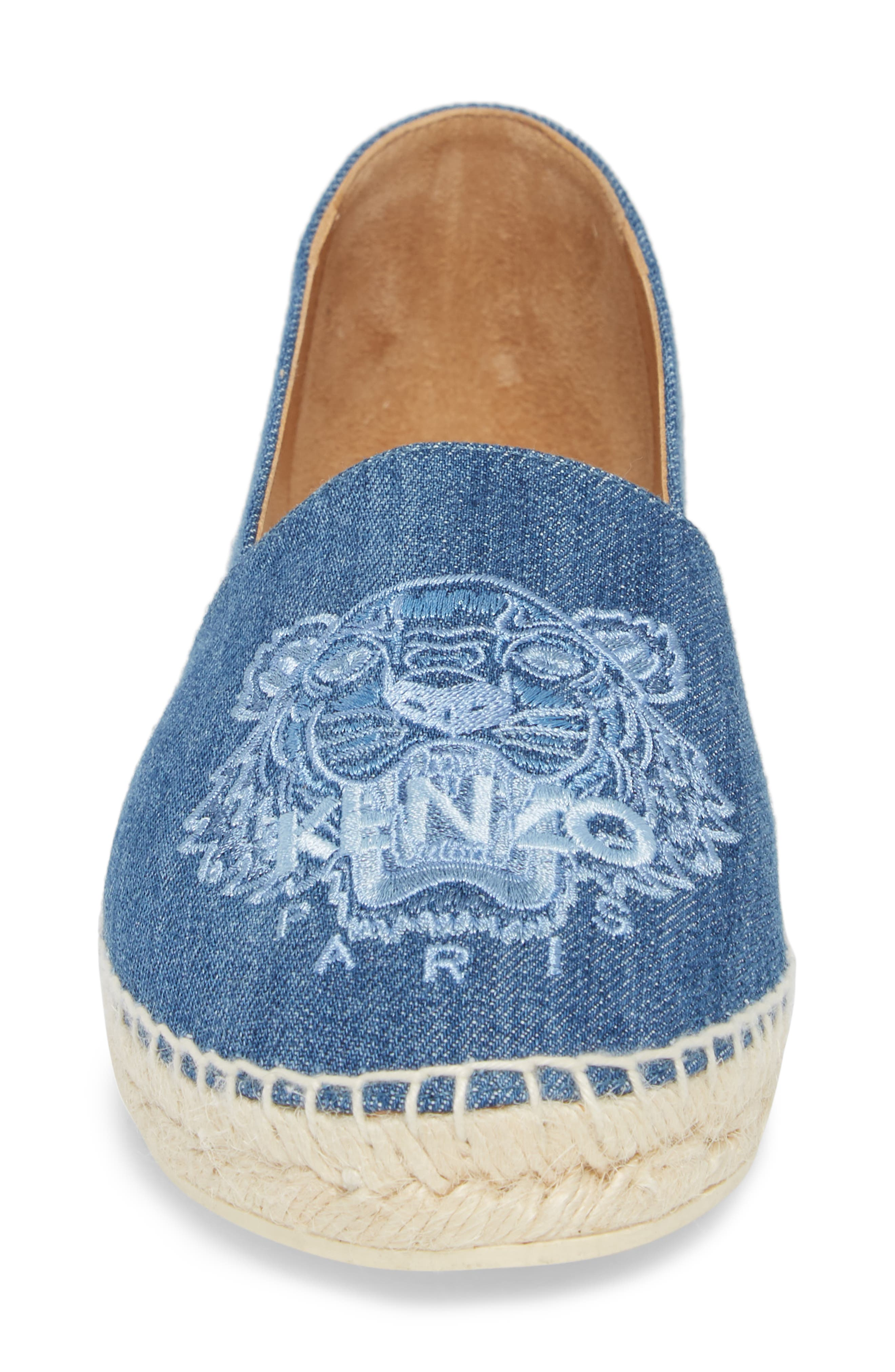 Tiger Embroidered Espadrille,                             Alternate thumbnail 4, color,                             452