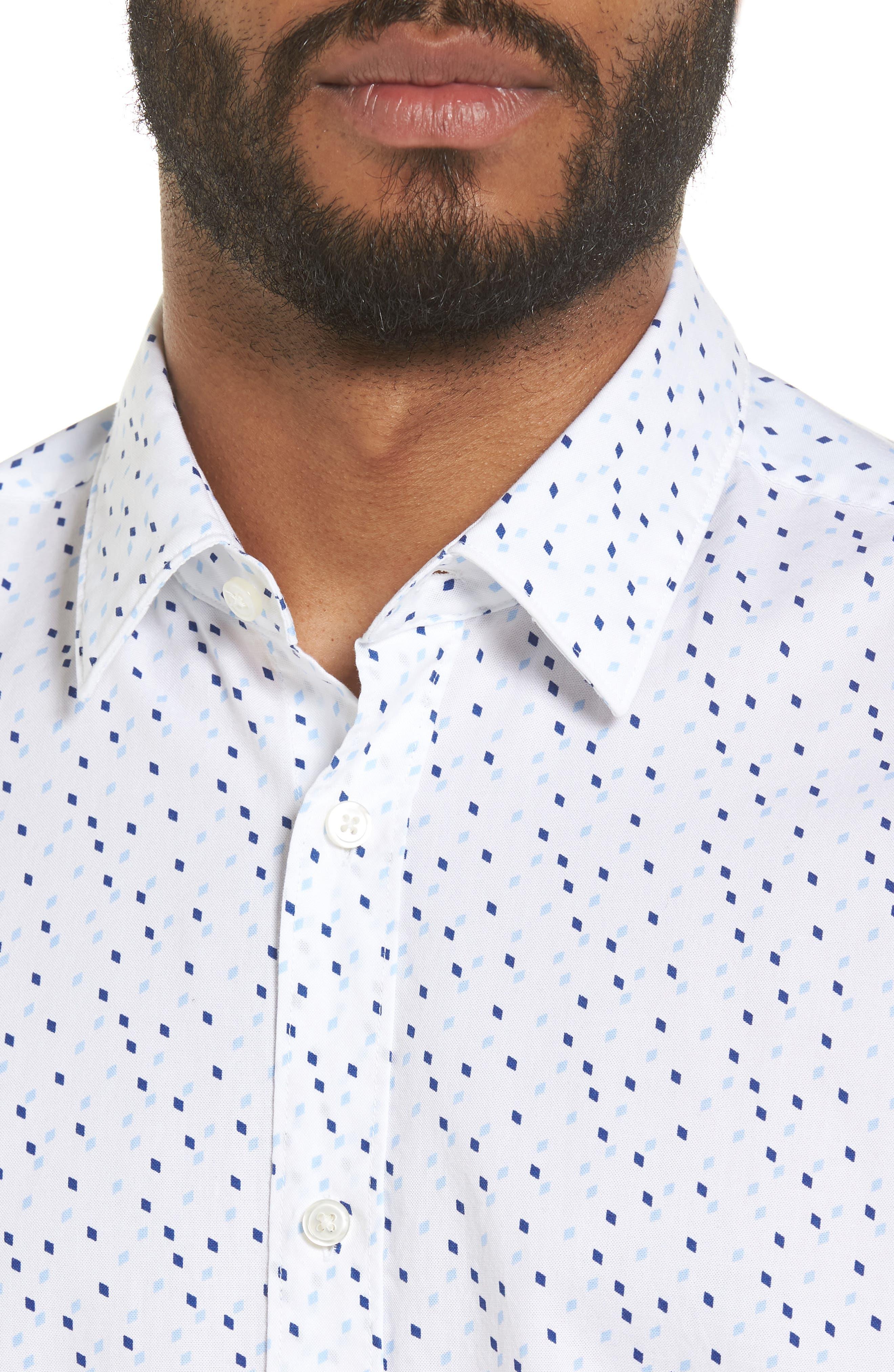Luka Regular Fit Print Sport Shirt,                             Alternate thumbnail 4, color,