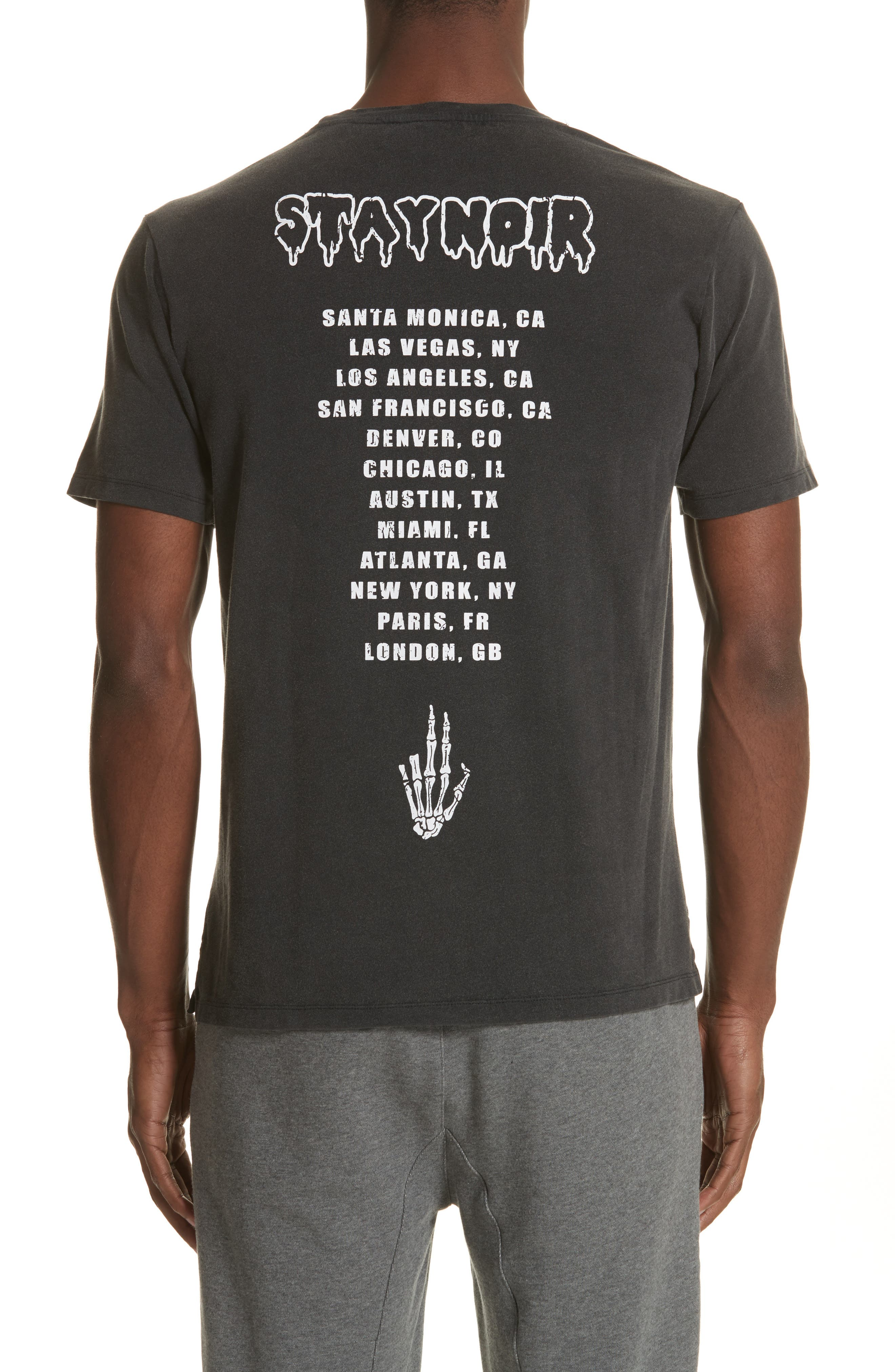 Skeleton Hand Graphic T-Shirt,                             Alternate thumbnail 2, color,                             001