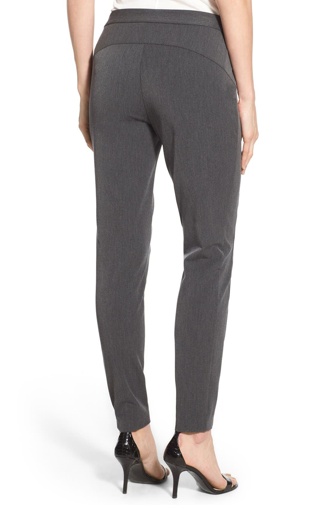 Stretch Twill Skinny Pants,                             Alternate thumbnail 5, color,                             DARK HEATHER GREY