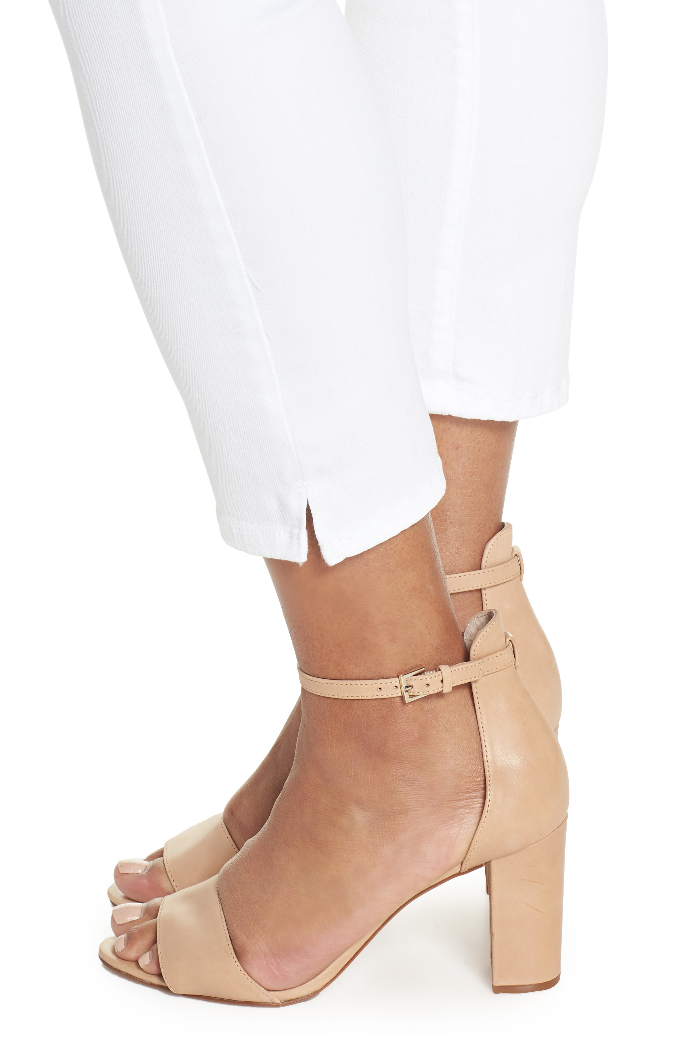 Alina Pull-On Ankle Skinny Jeans,                             Alternate thumbnail 4, color,                             198