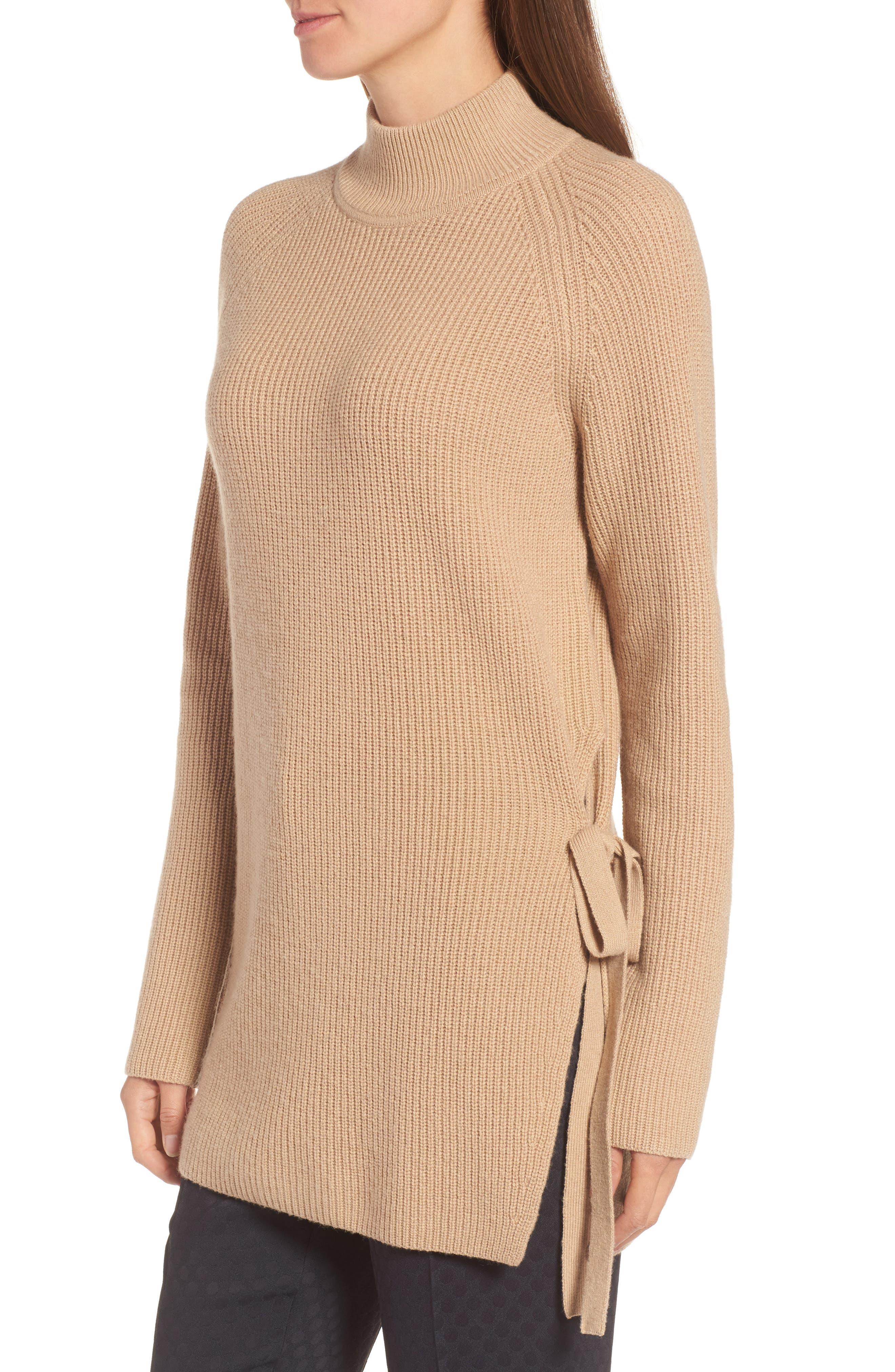 Filda Tie Side Sweater,                             Alternate thumbnail 3, color,