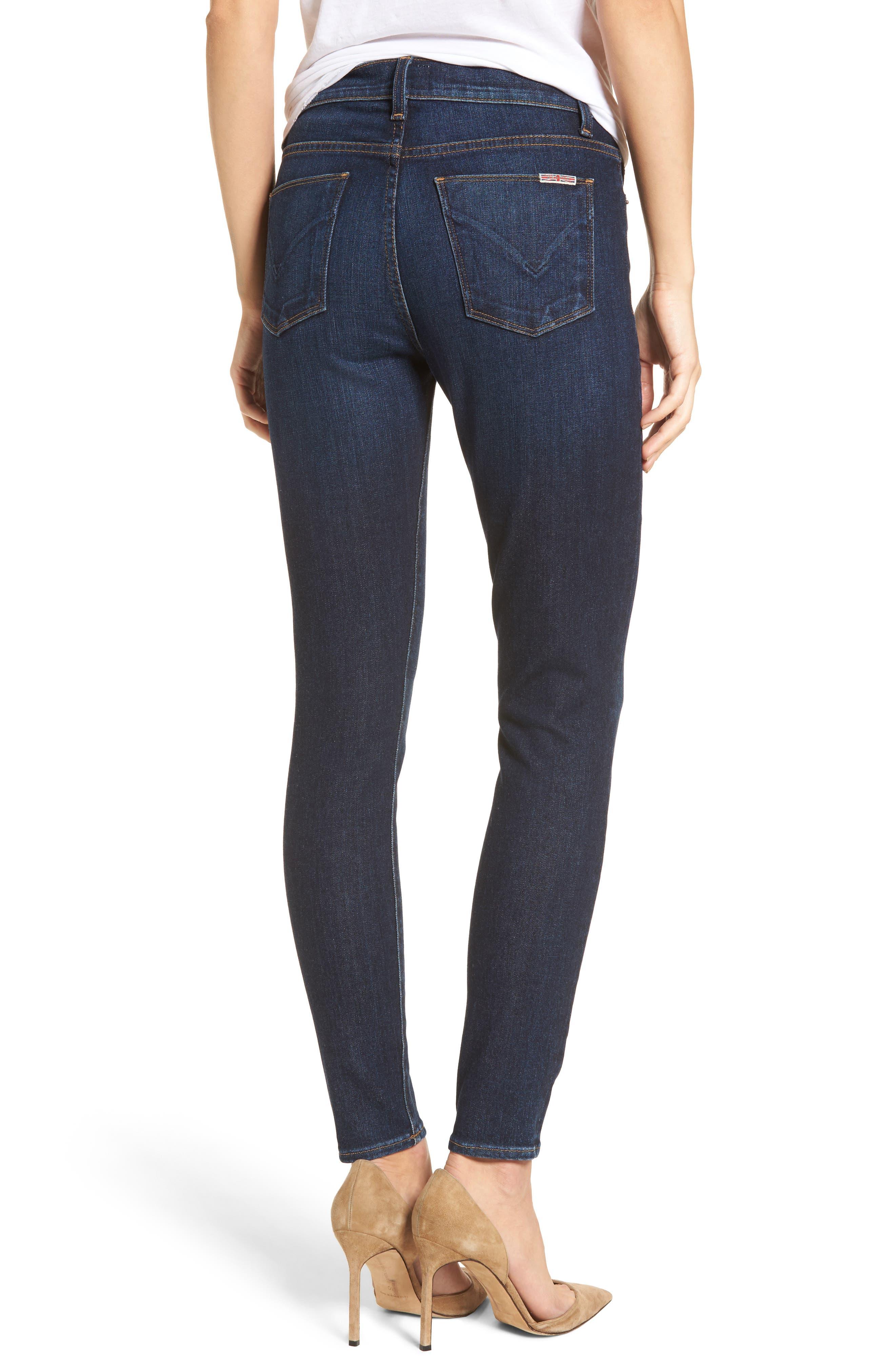 Barbara High Waist Ankle Super Skinny Jeans,                             Alternate thumbnail 3, color,