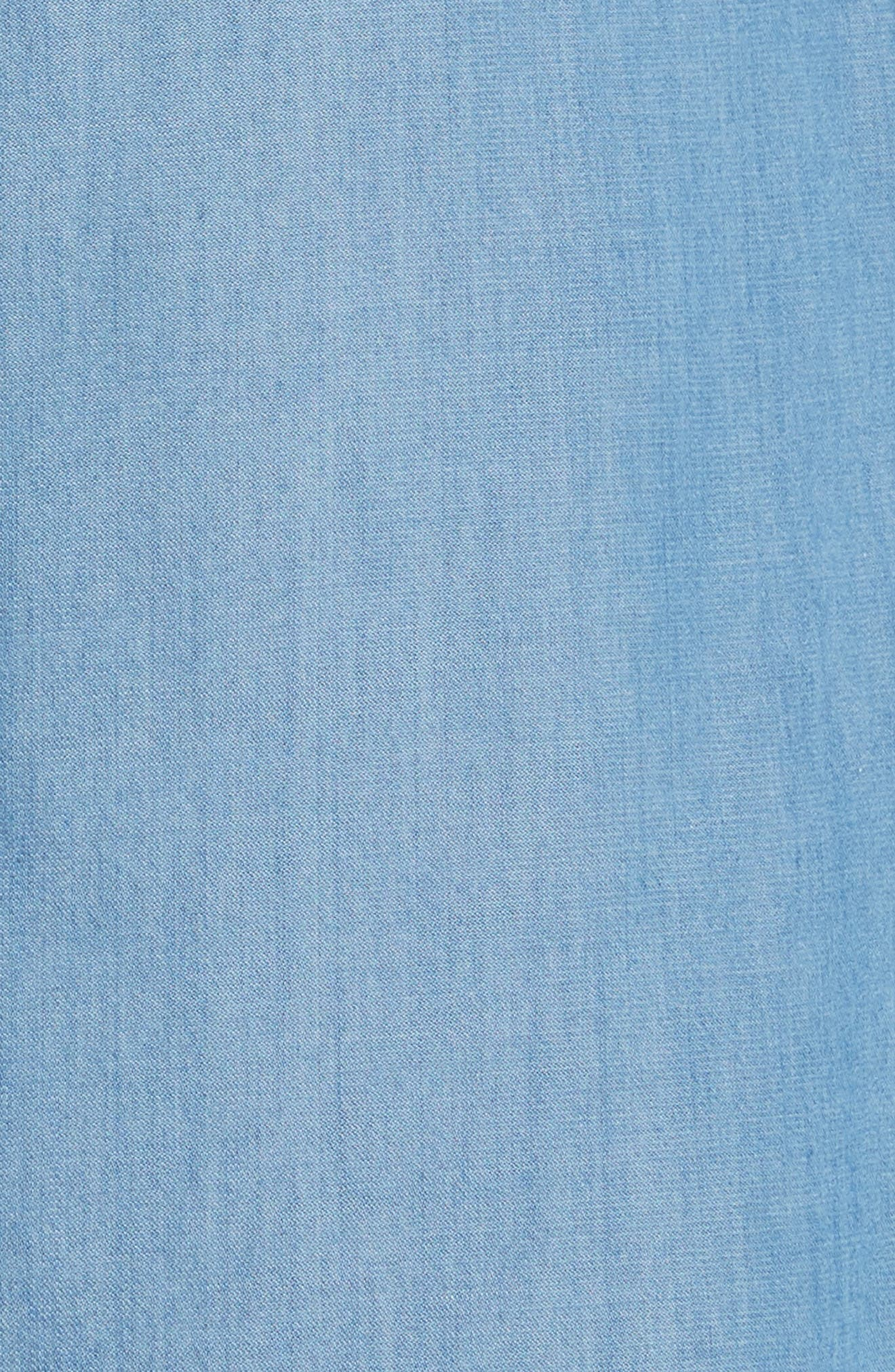 Cotton & Cashmere Chambray Shirtdress,                             Alternate thumbnail 5, color,                             400