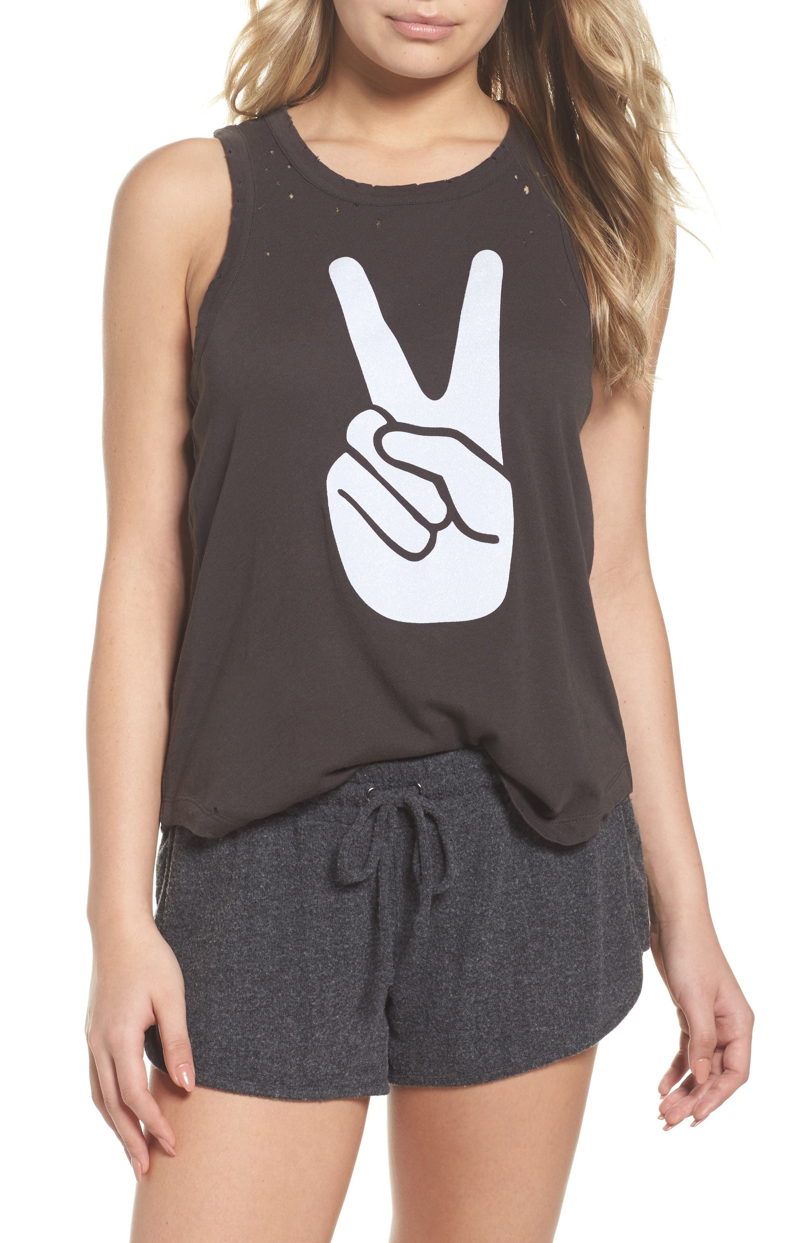 Destroyed Muscle Tank,                             Main thumbnail 1, color,