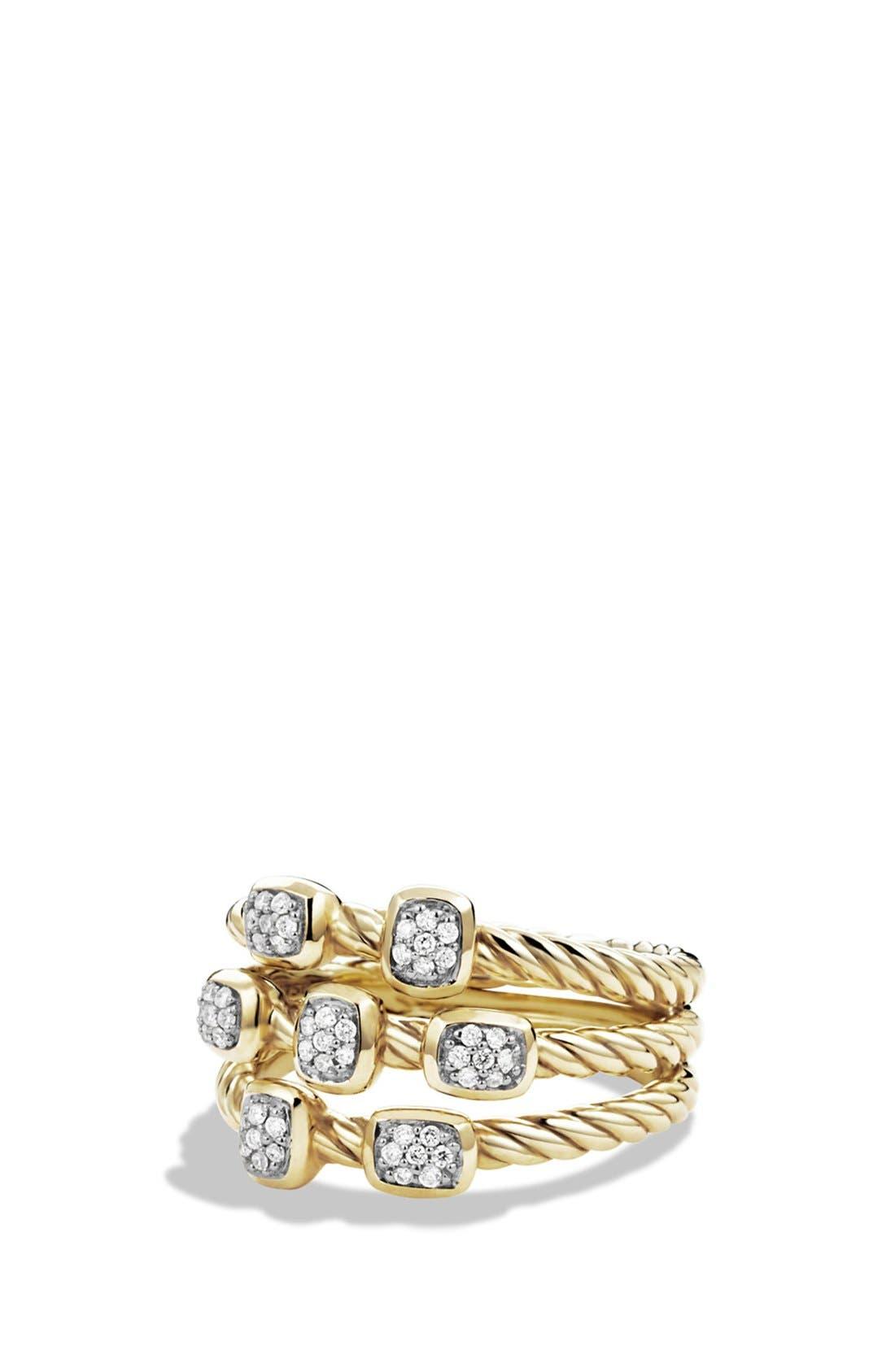 'Confetti' Ring with Diamonds in Gold,                         Main,                         color, DIAMOND