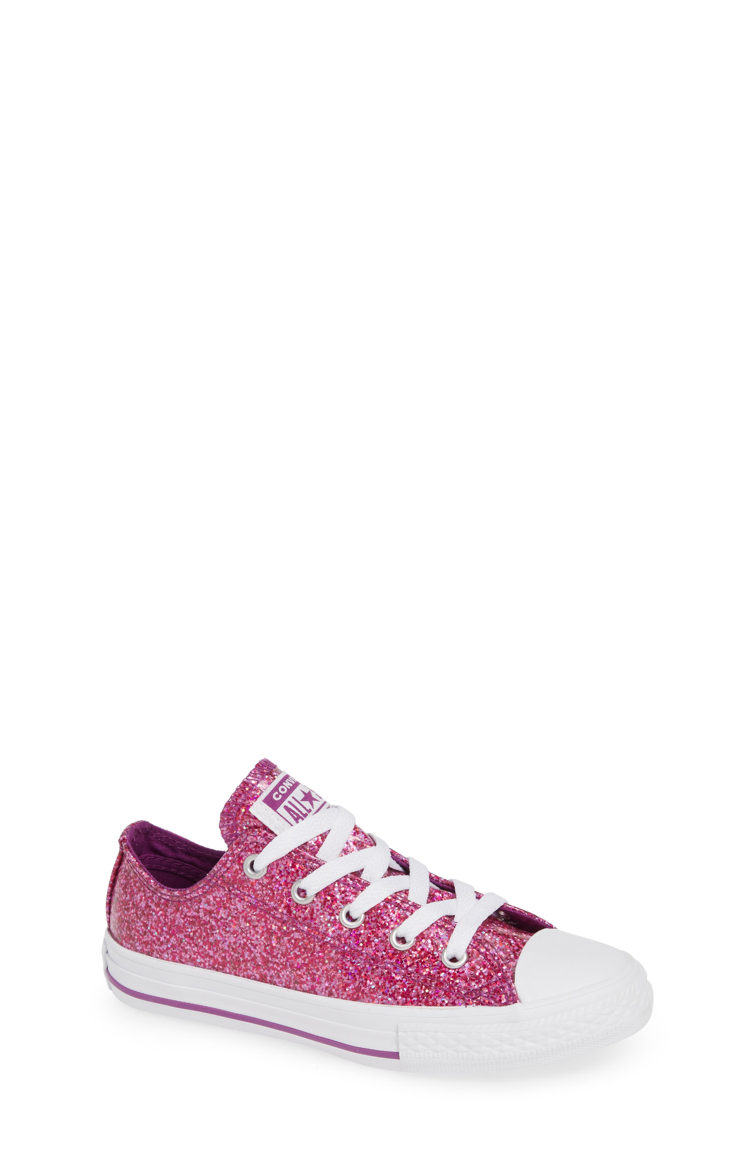 All Star<sup>®</sup> Seasonal Glitter OX Low Top Sneaker,                             Main thumbnail 1, color,                             ICON VIOLET