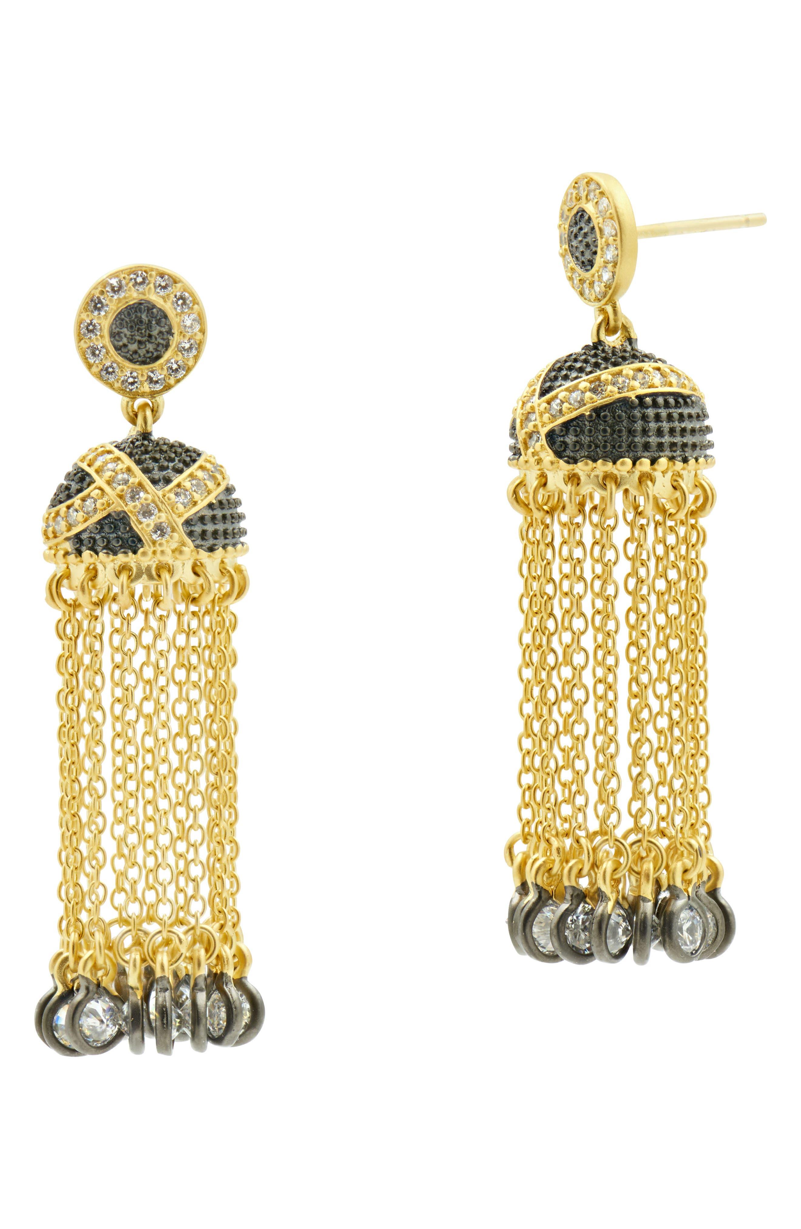 Textured Ornaments Tassel Drop Earrings,                             Main thumbnail 1, color,                             710