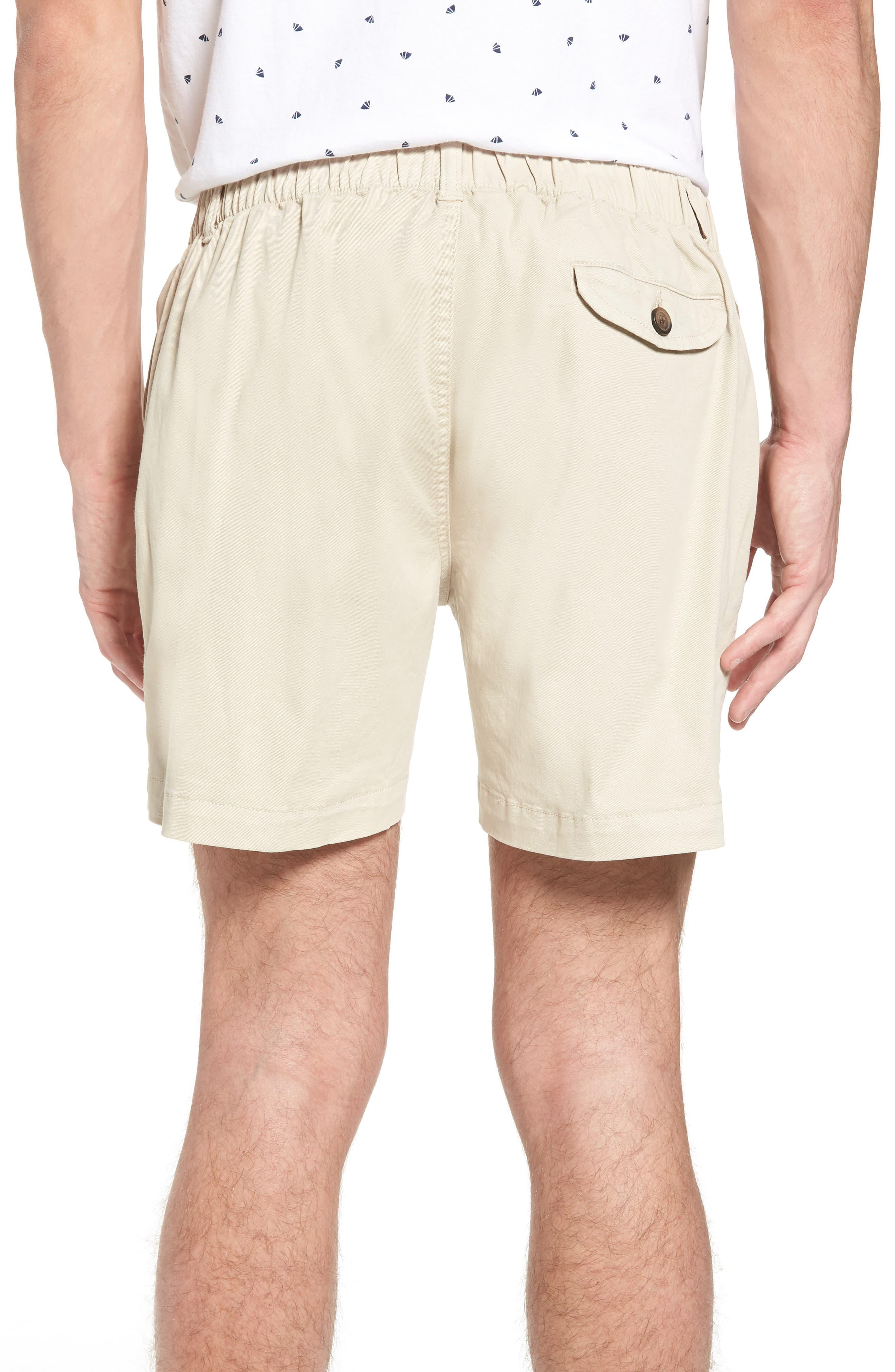 Snappers Elastic Waist 5.5 Inch Stretch Shorts,                             Alternate thumbnail 2, color,                             STONE