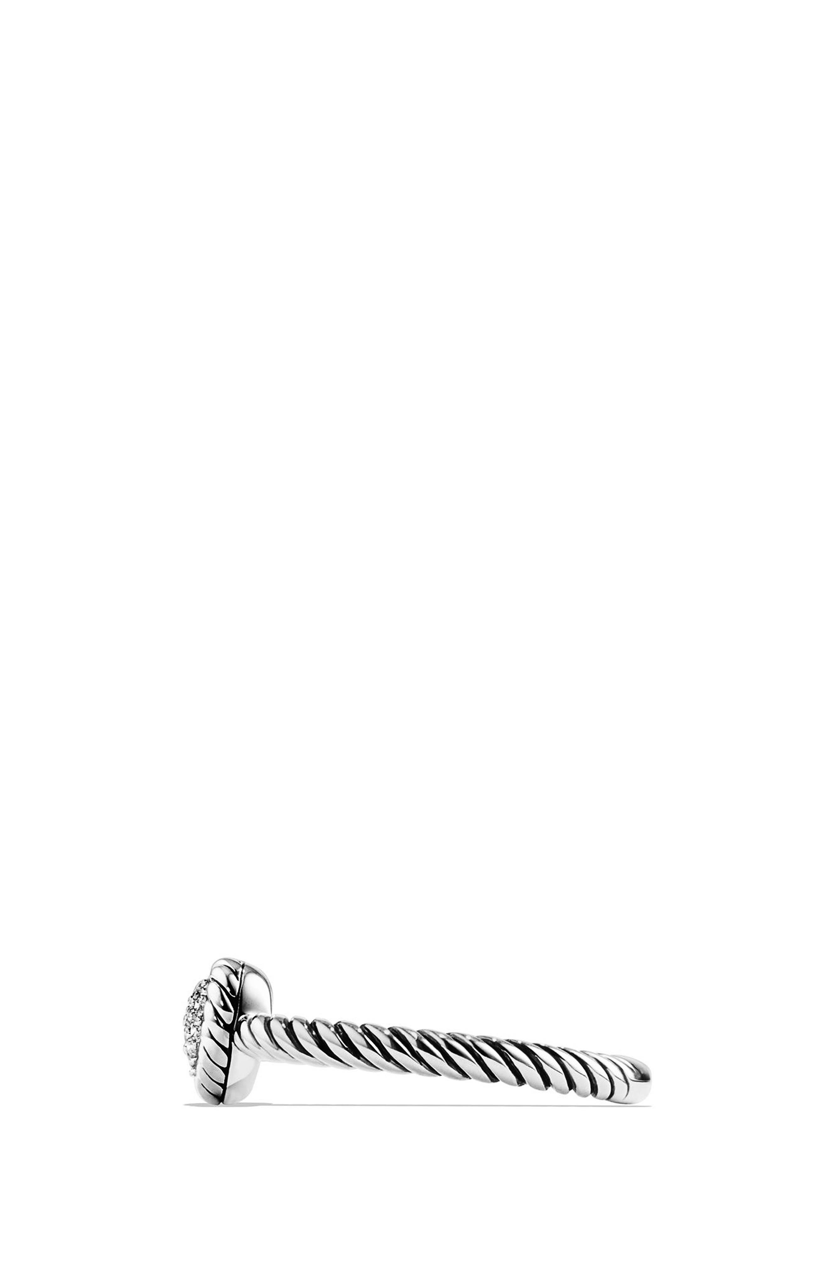 'Châtelaine' Heart Ring with Diamonds,                             Alternate thumbnail 3, color,                             SILVER