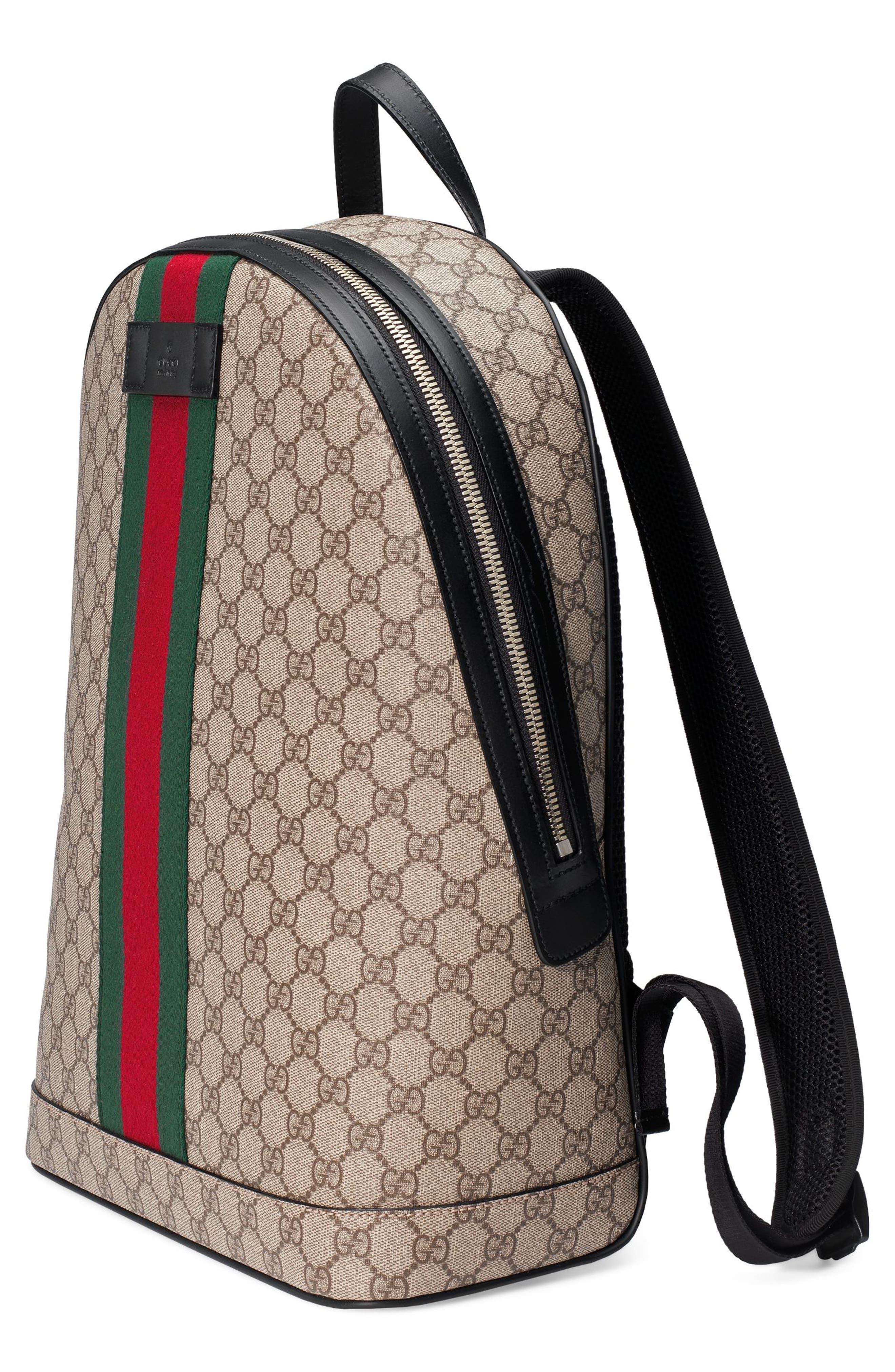 Supreme Stripe Backpack,                             Alternate thumbnail 4, color,                             283
