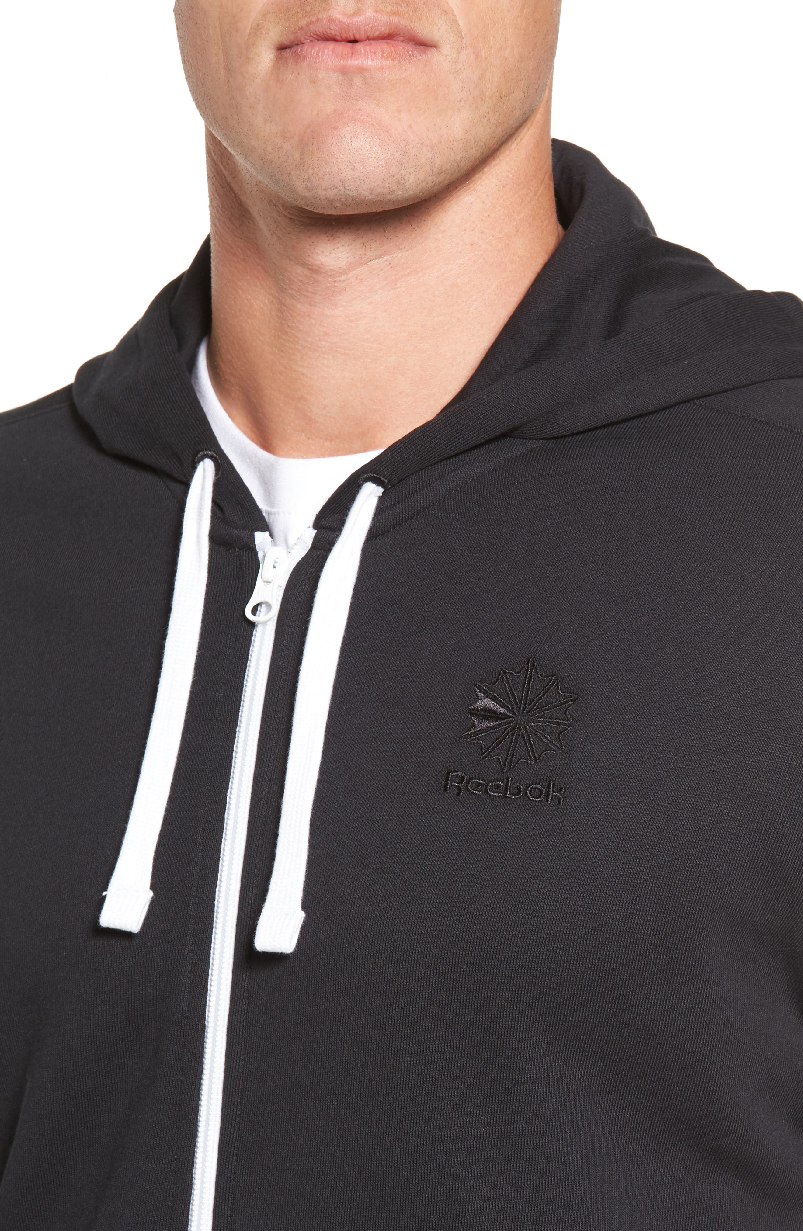 Classic Graphic Zip Hoodie,                             Alternate thumbnail 7, color,