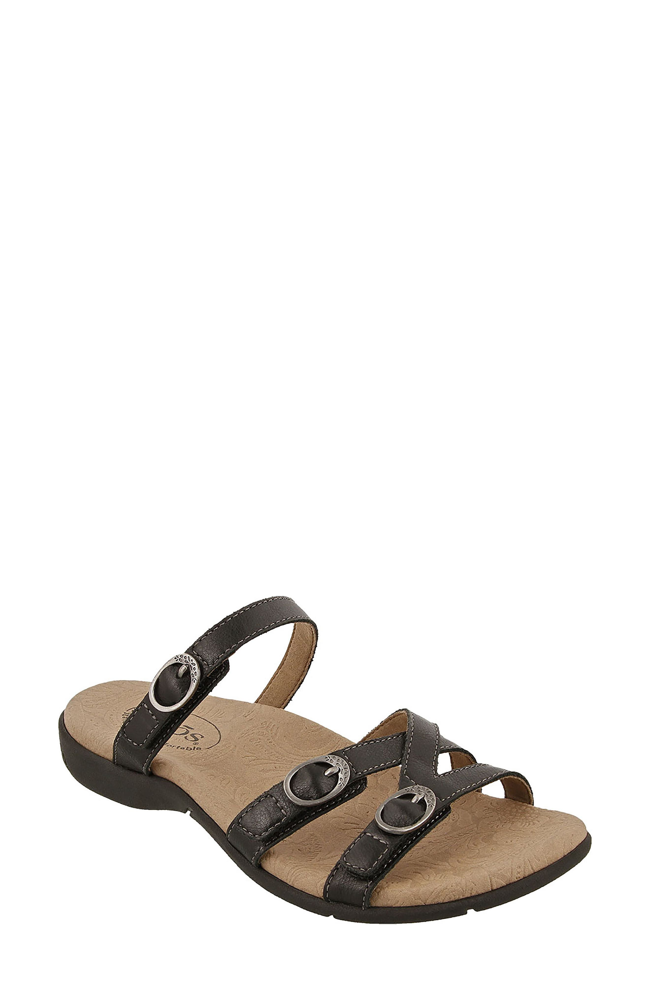 Captive Sandal,                         Main,                         color, BLACK LEATHER
