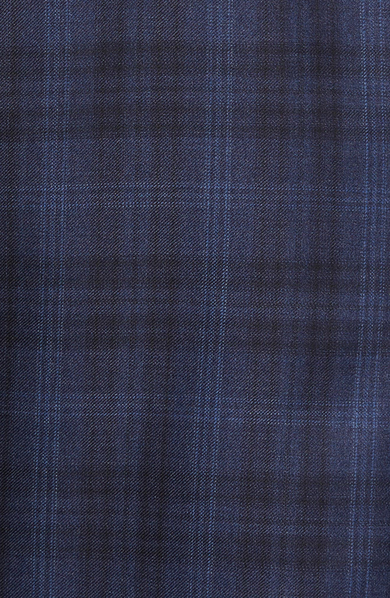 Flynn Classic Fit Plaid Wool Sport Coat,                             Alternate thumbnail 6, color,