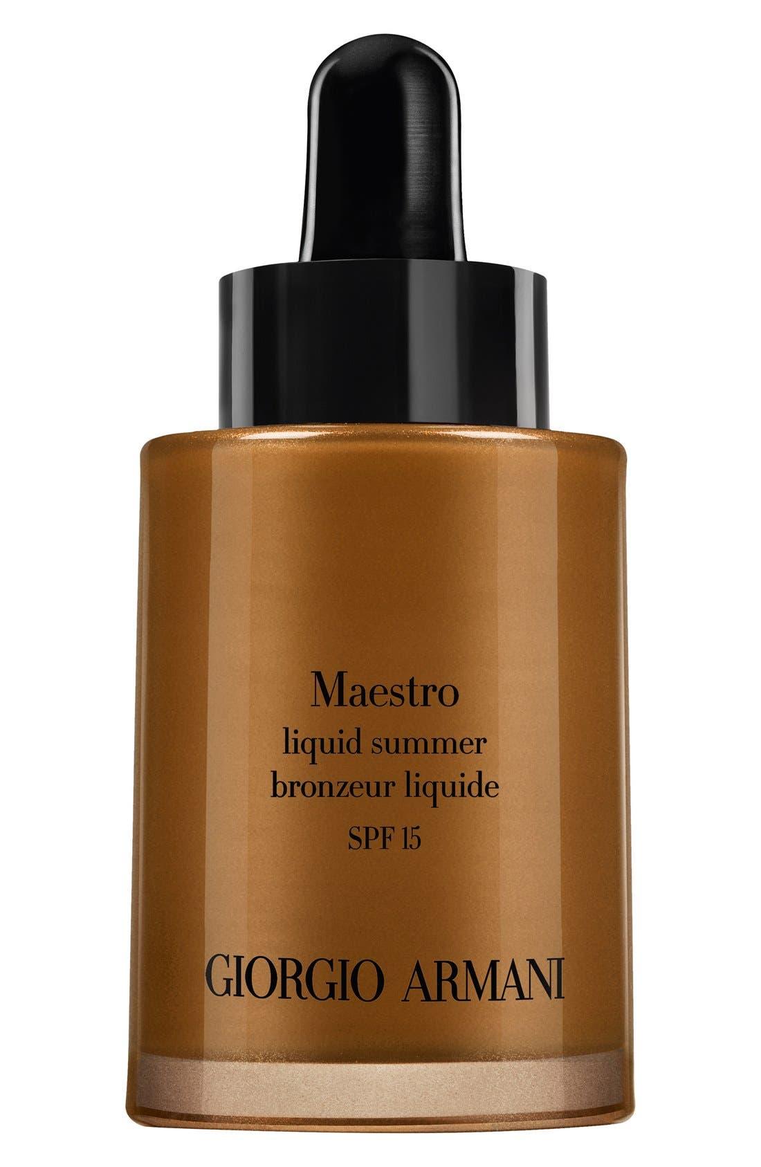 'Maestro' Liquid Summer Bronzer SPF 15,                             Main thumbnail 3, color,