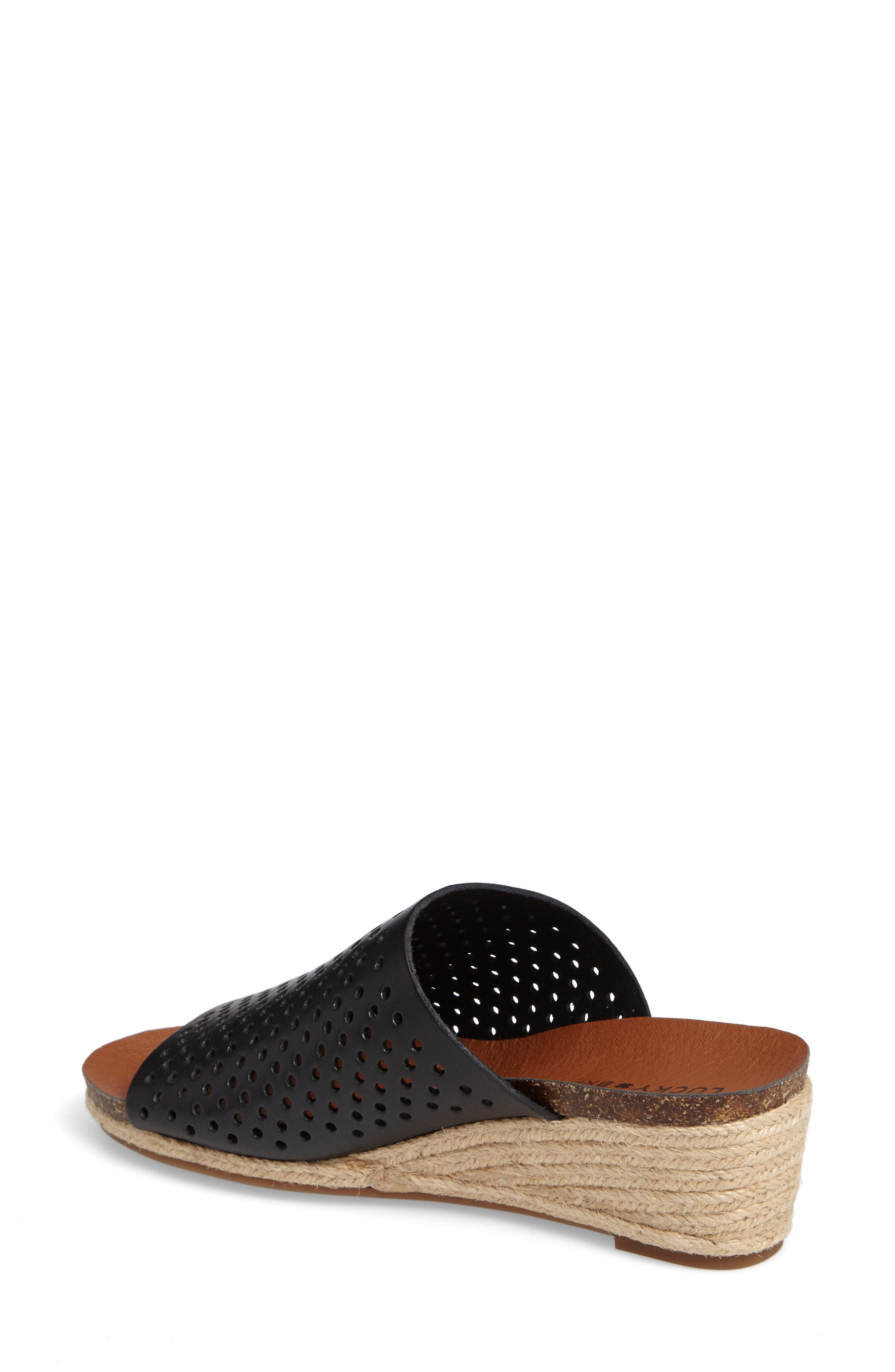 Jemya Perforated Open Toe Mule,                             Alternate thumbnail 2, color,                             001