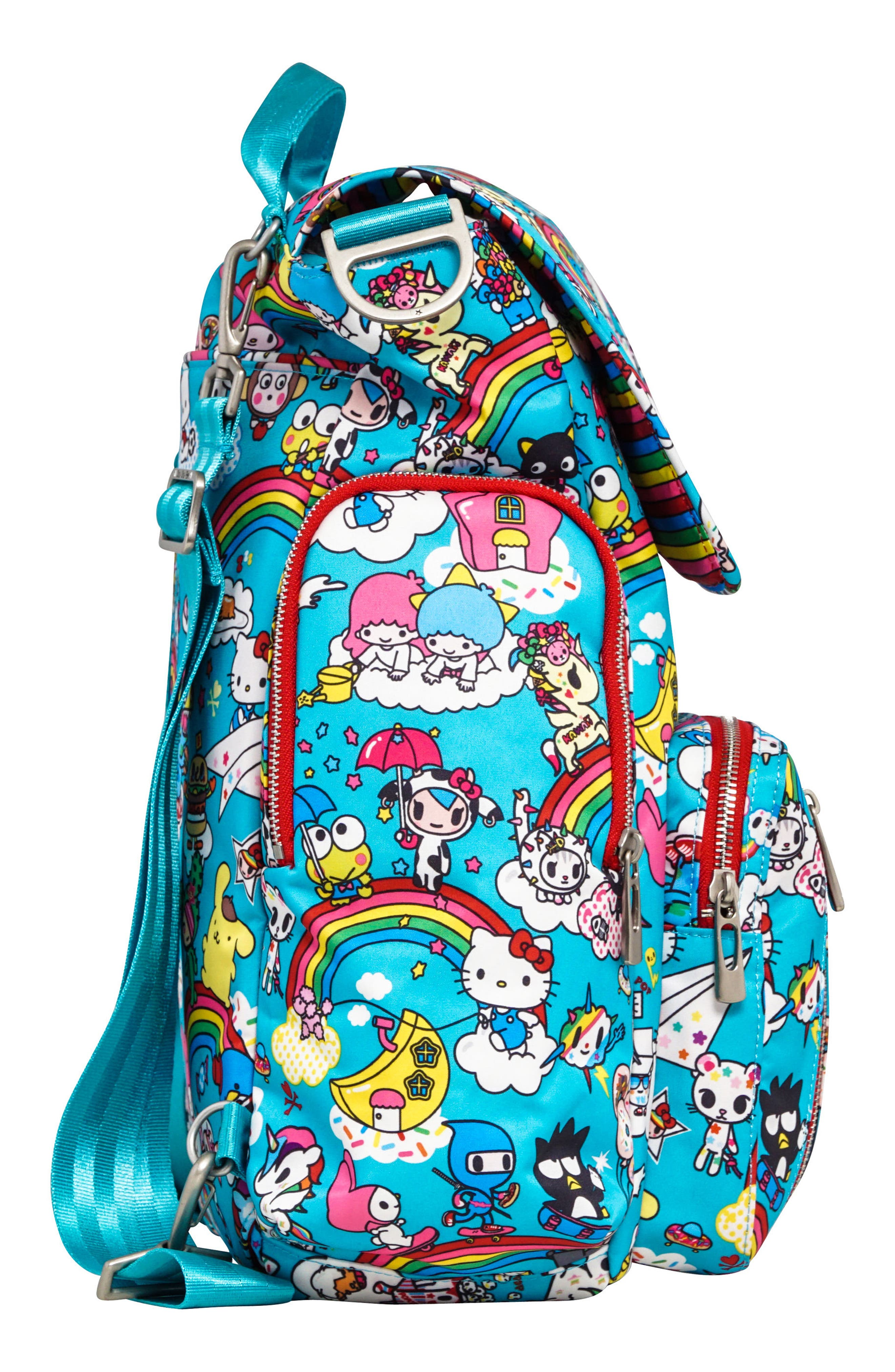 x tokidoki for Hello Sanrio Rainbow Dreams Sporty Diaper Backpack,                             Alternate thumbnail 4, color,                             433