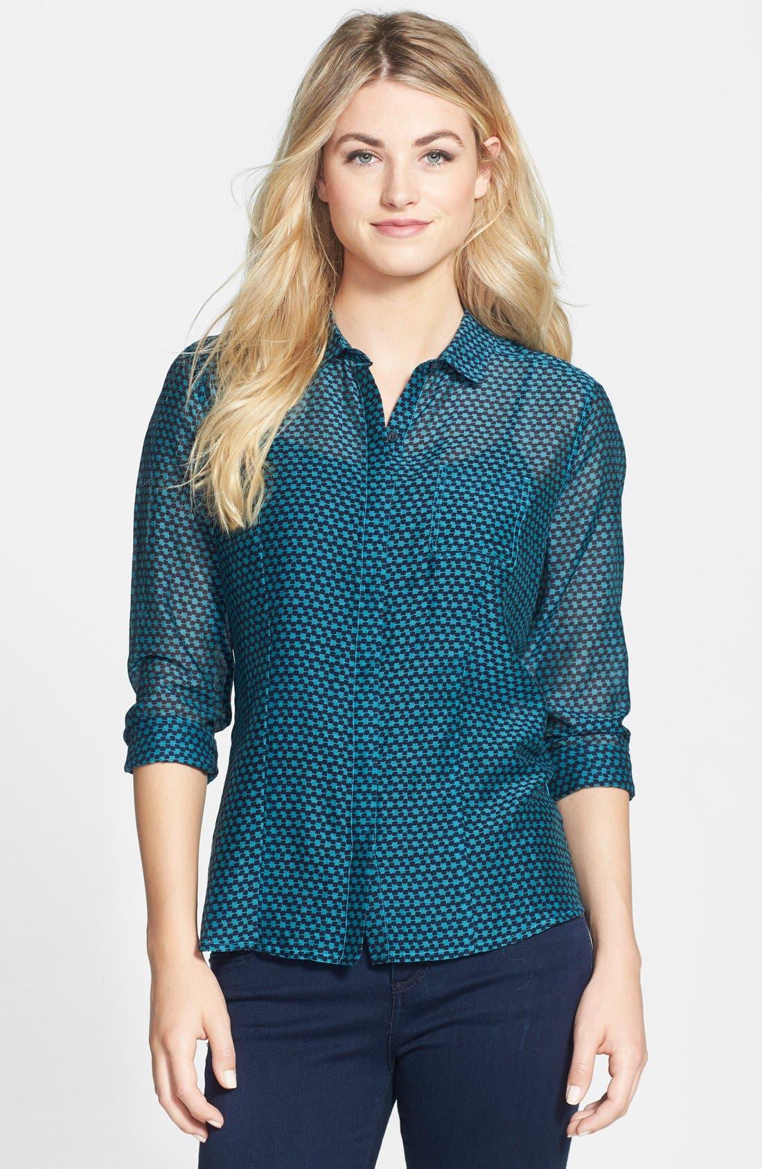 Cotton & Silk Shirt,                             Main thumbnail 27, color,