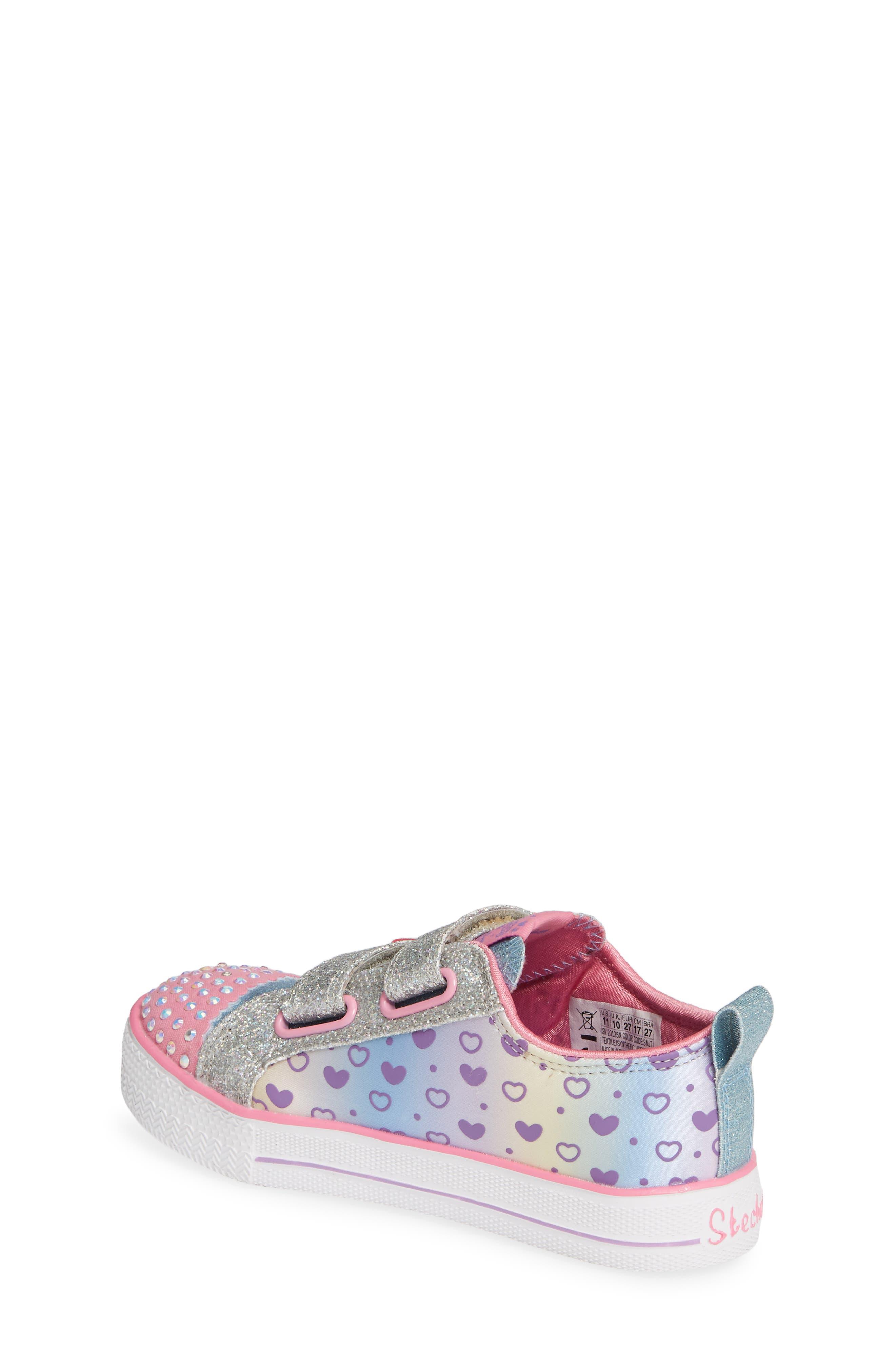 Shuffle Lite Glitter Sneaker,                             Alternate thumbnail 2, color,                             SILVER/ MULTI